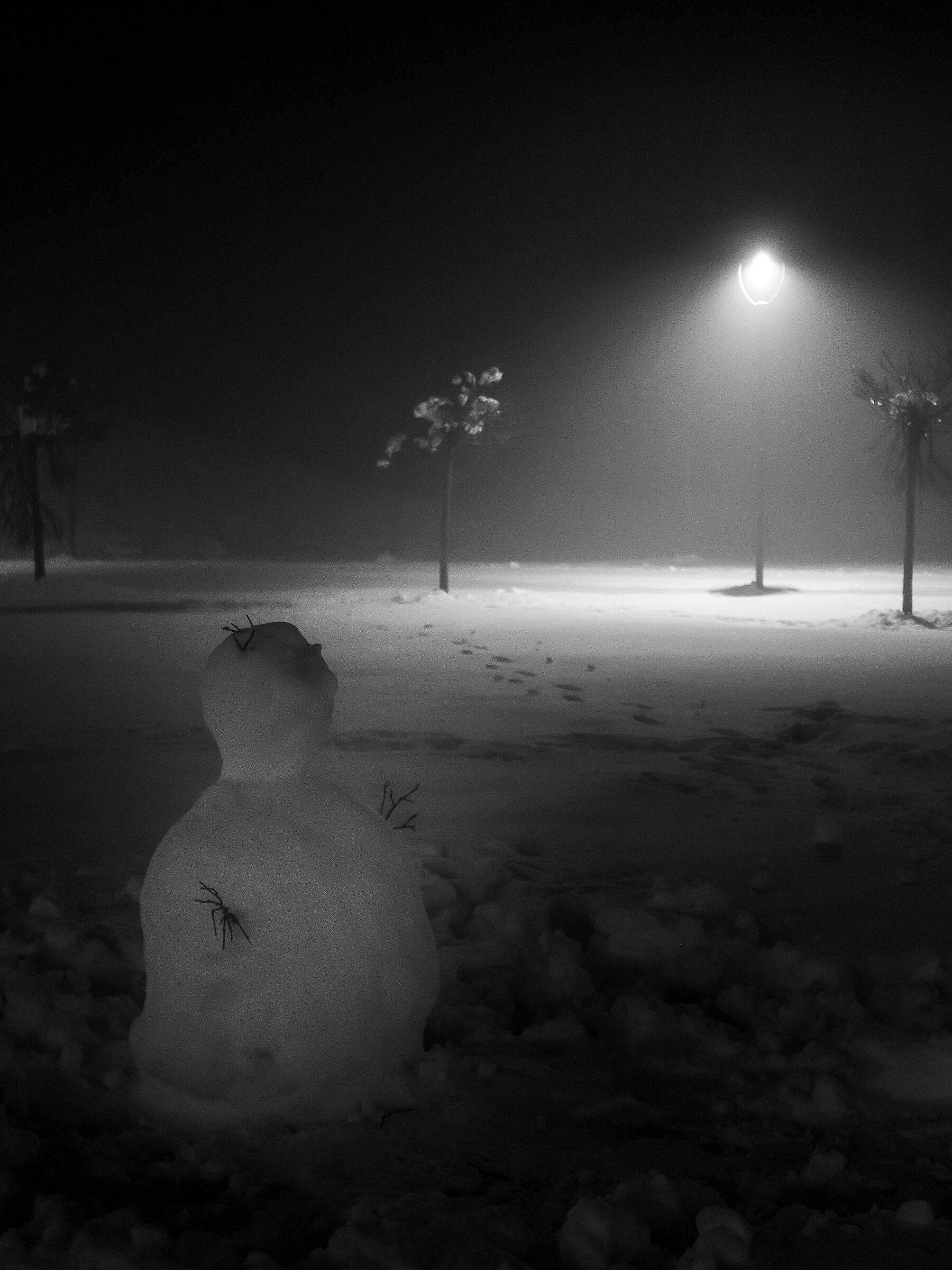 Snow...