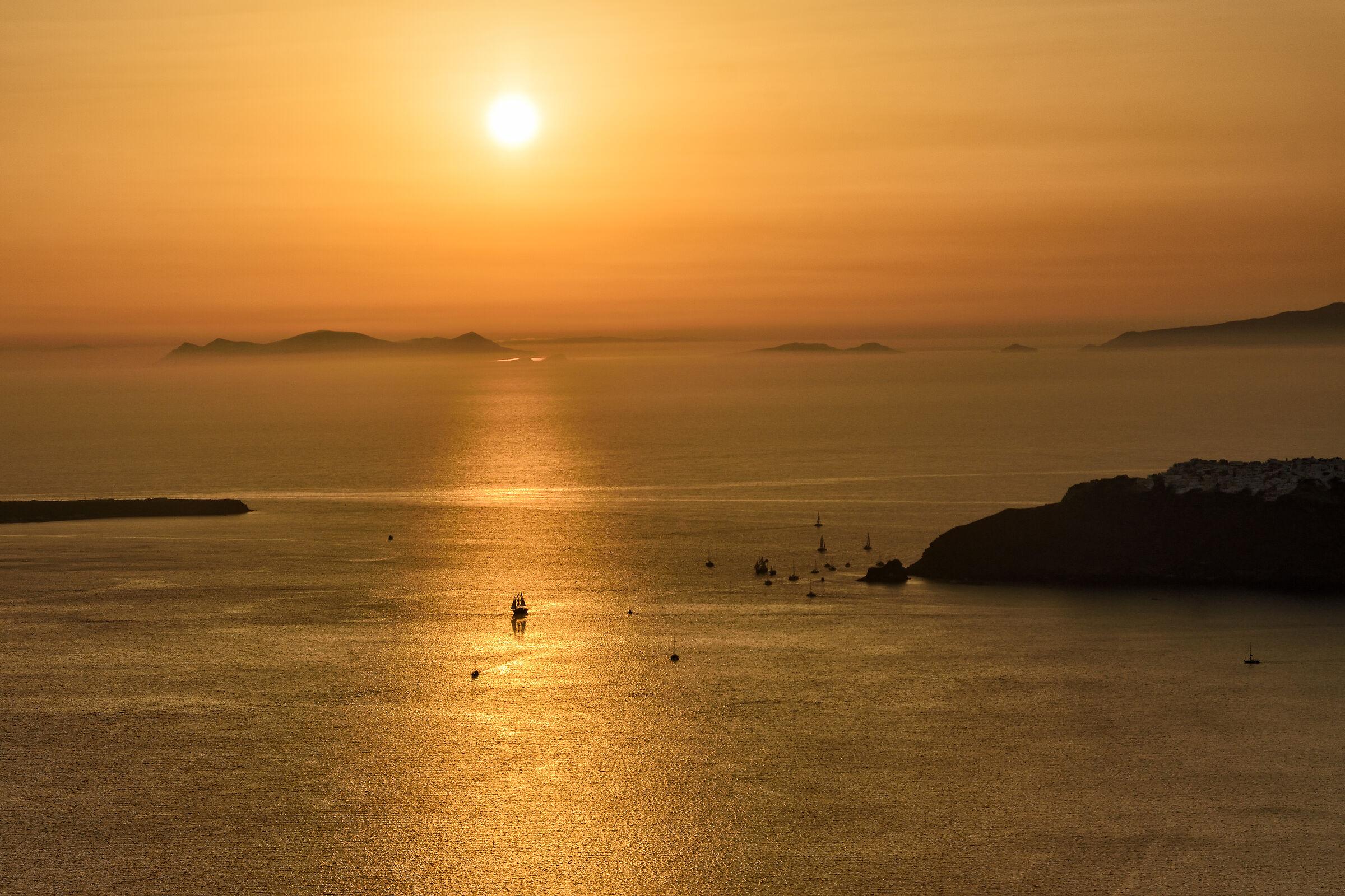 On the golden sea...