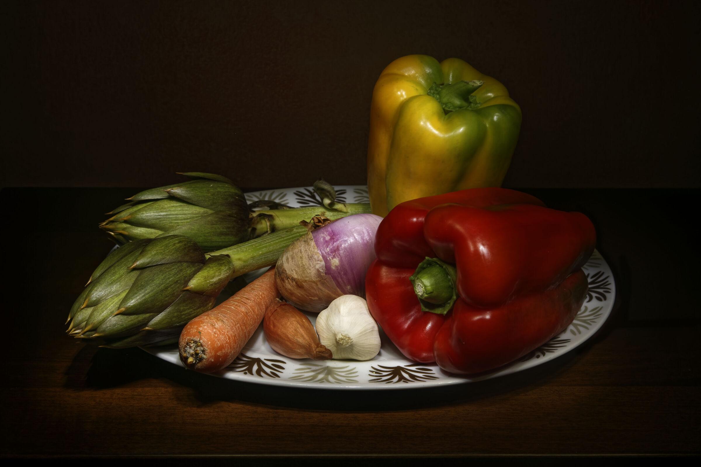 Peperoni, carciofi e ortaggi...