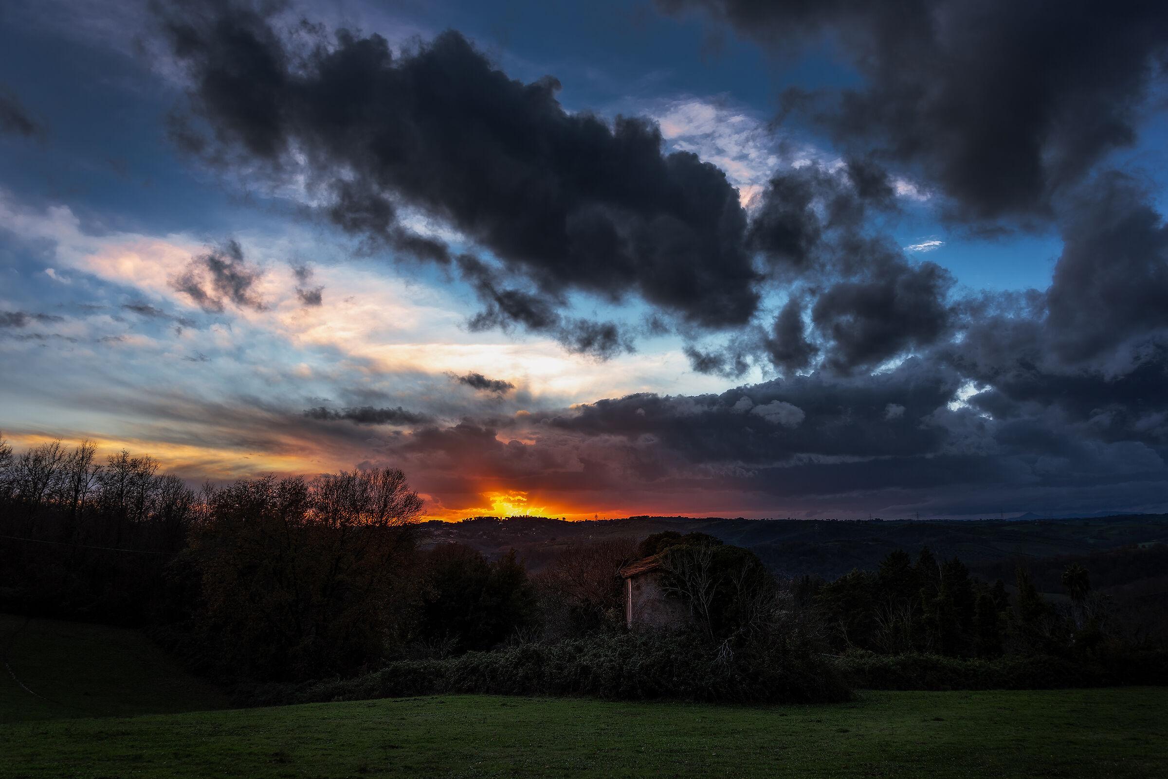 Ruin at Sunset...