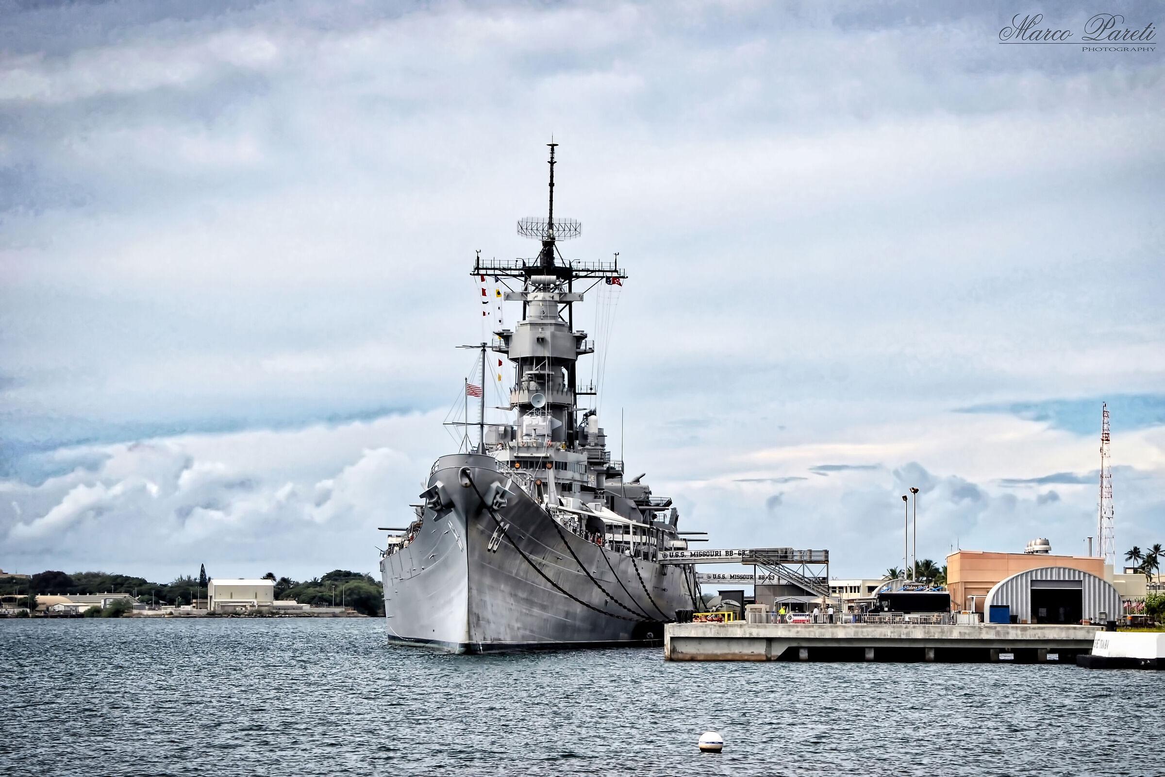 Pearl Harbour - U.S.S. Missouri...