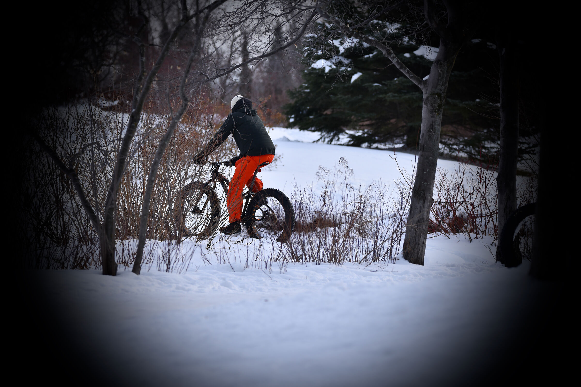 Even in winter we can do sport '' bicycle ''...