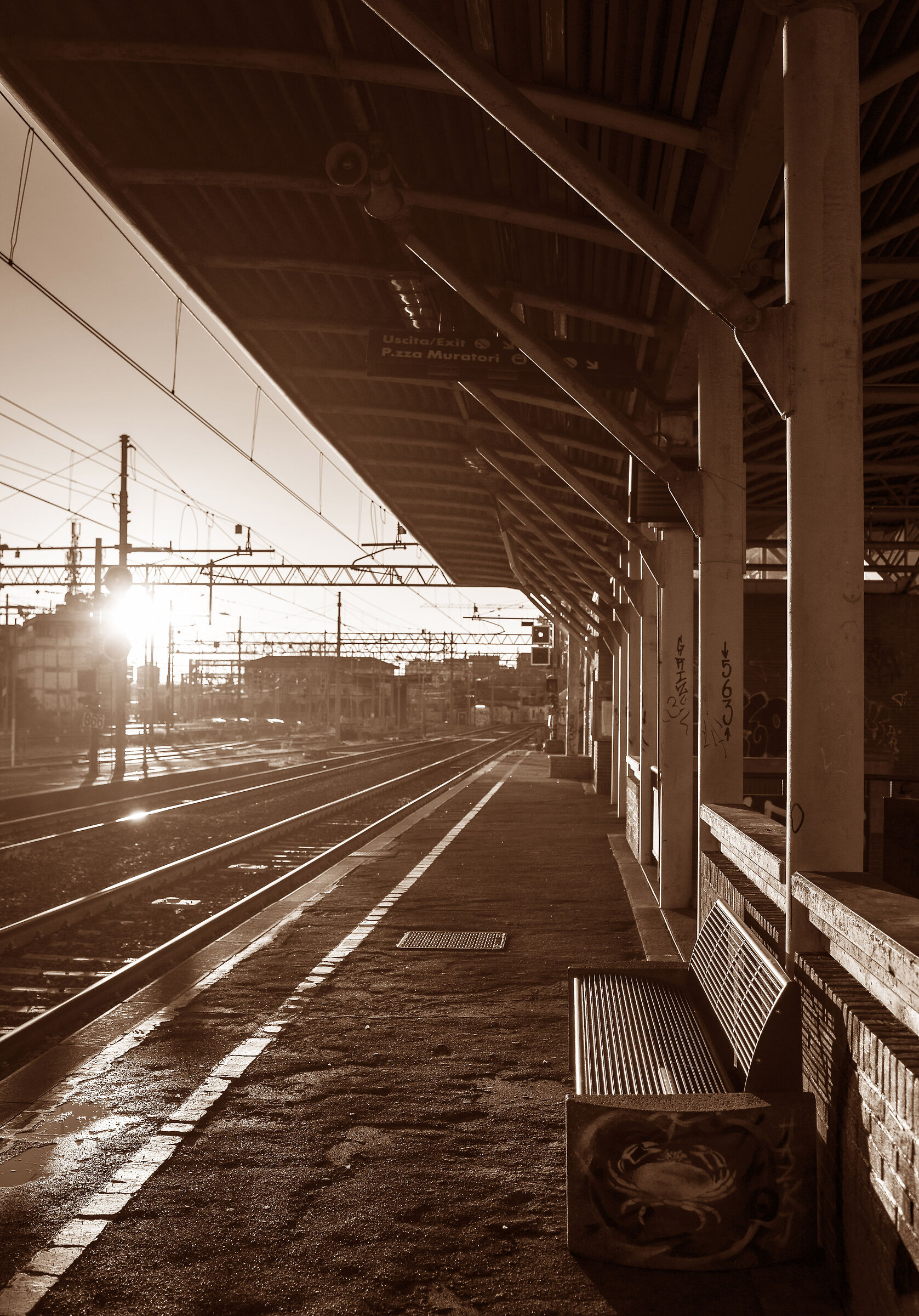 Station without trains...