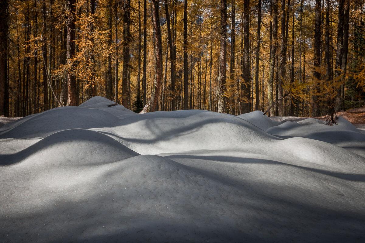 Quando la neve si prende la scena ......