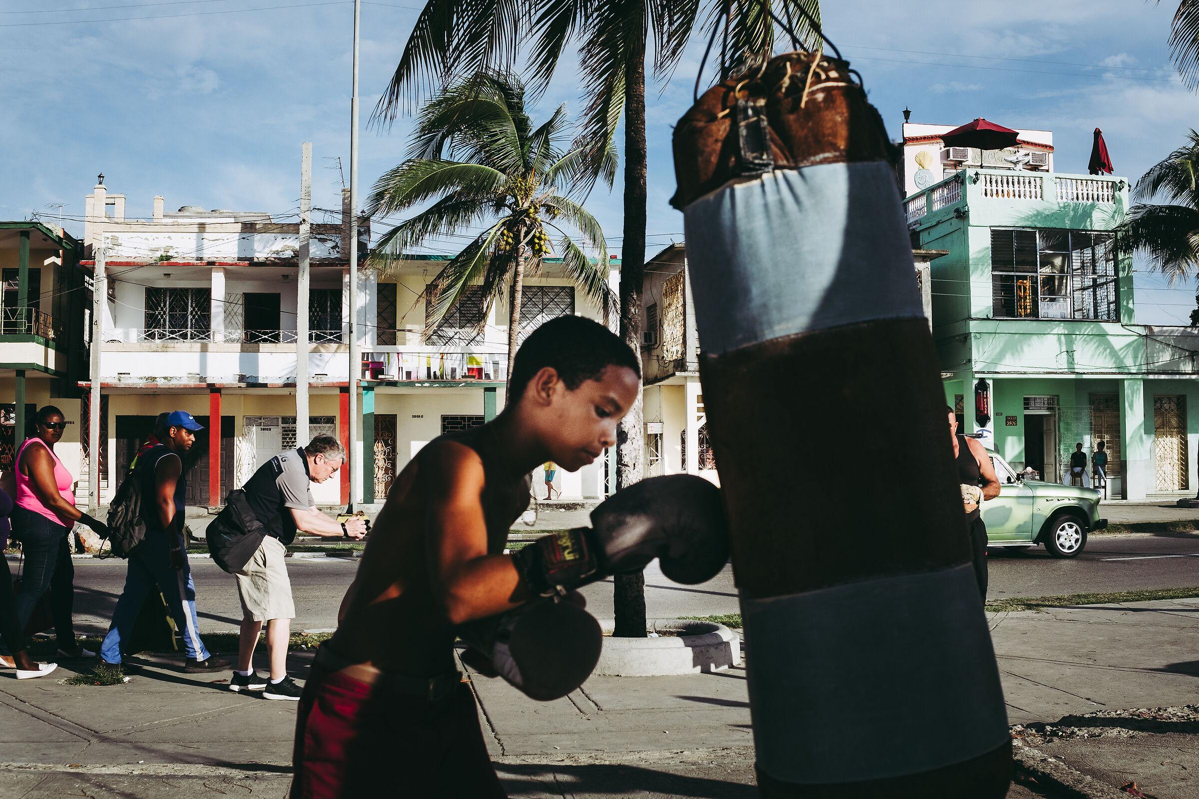 Outdoor boxer...