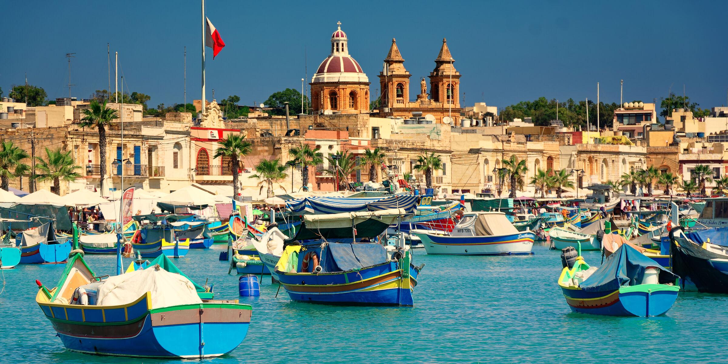 Malta - the port of Marsaxlokk...