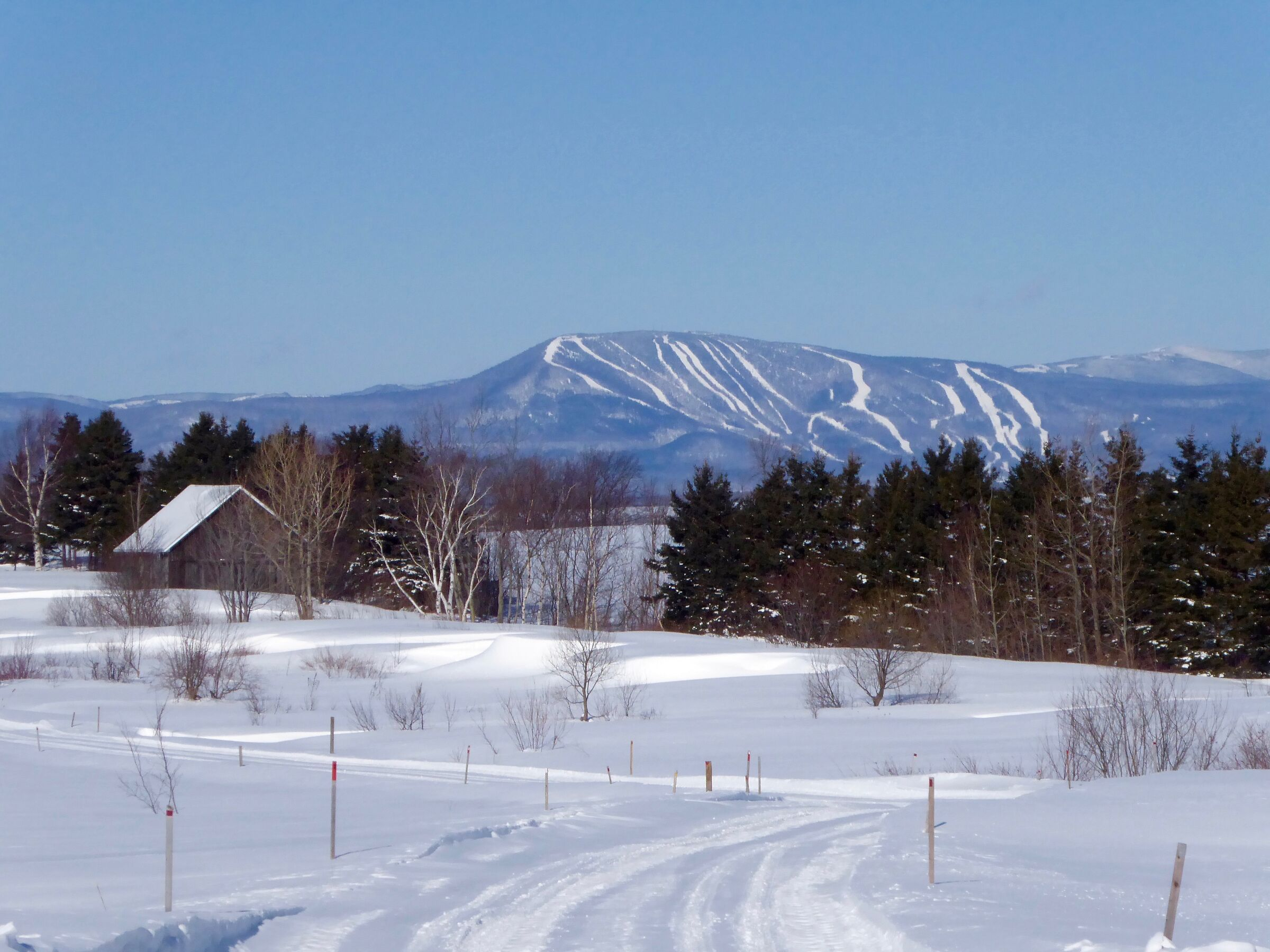Winter landscape-Mont-St-Anne ''sky'' image background...