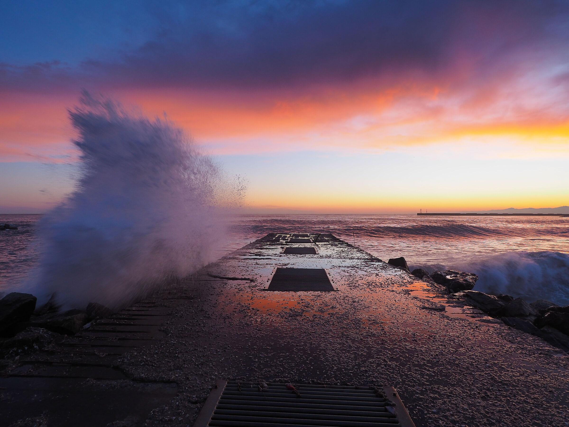 Sunset at Punta Vagno (Genoa)...