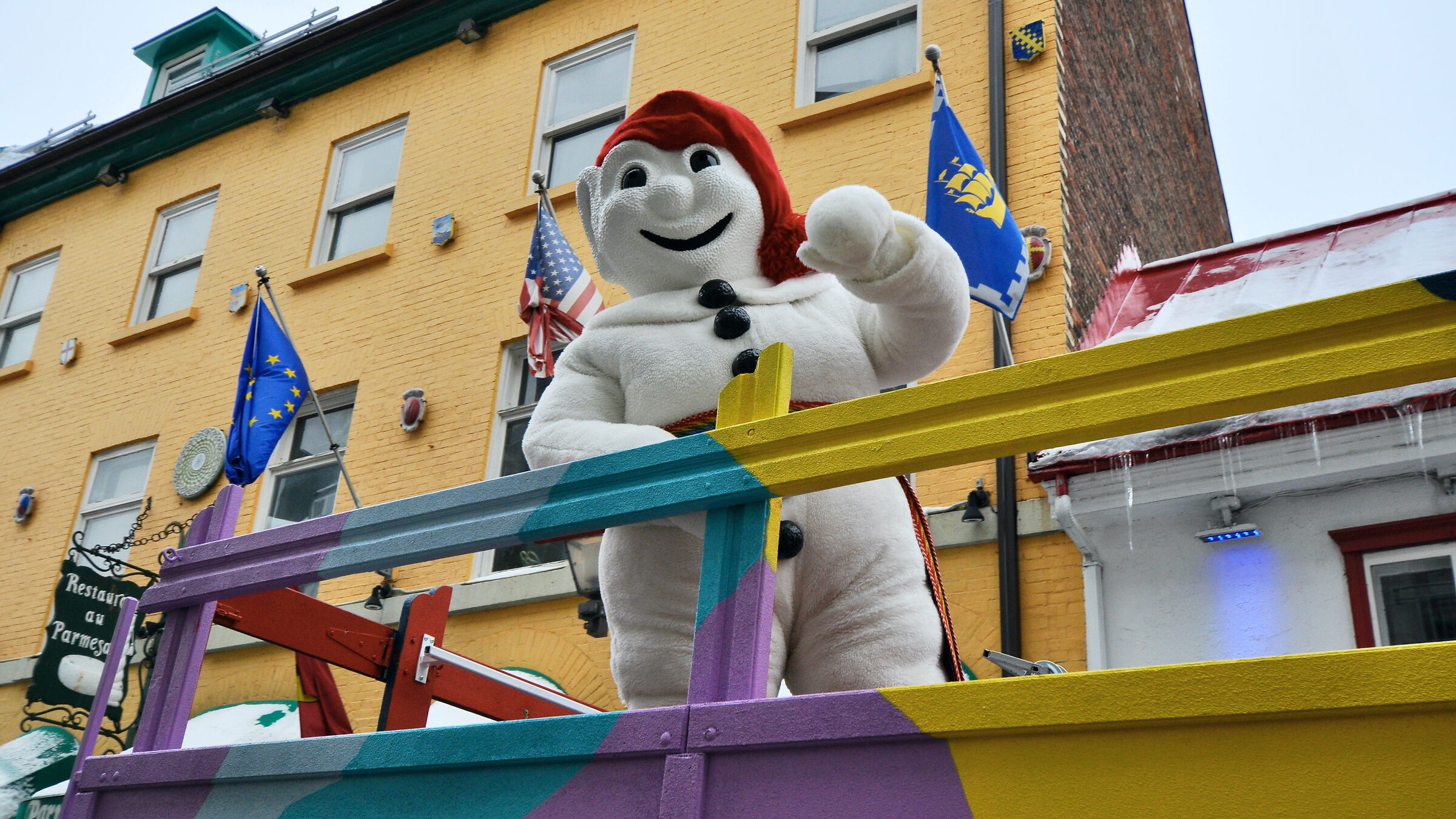 Quebec Winter Carnival, here is the unique Bonhomme...