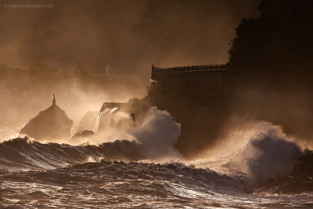 Rough seas on the evening...