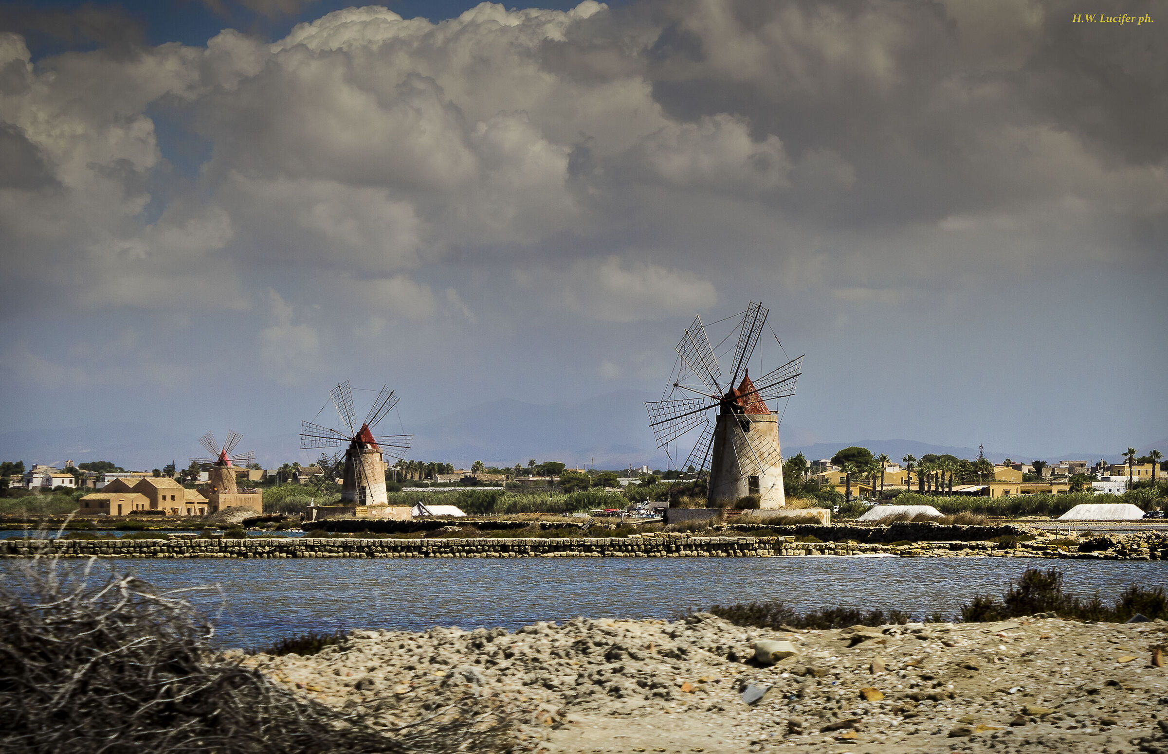 The mills of the Salt Pans of Marsala...
