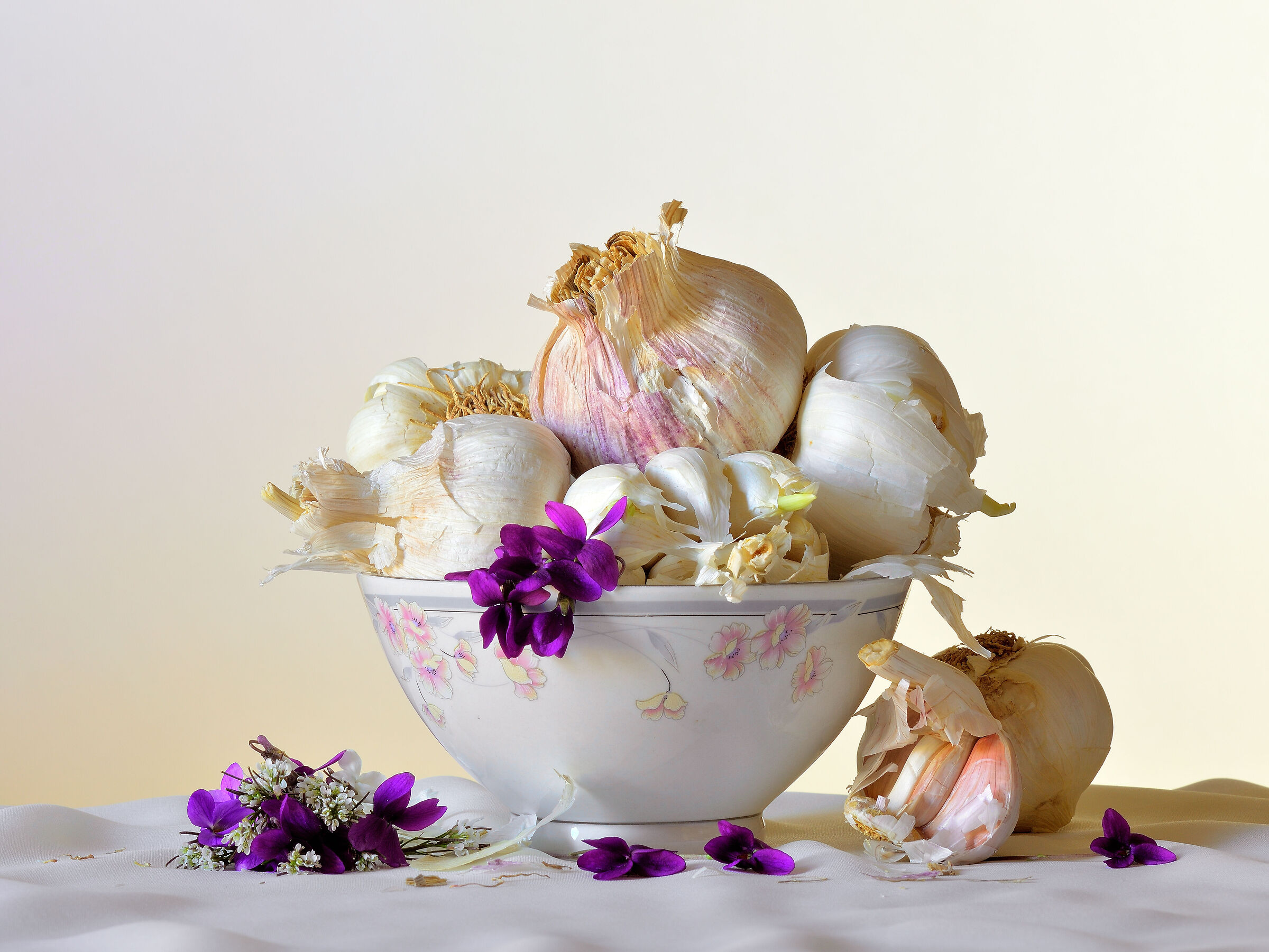 cup with garlic...