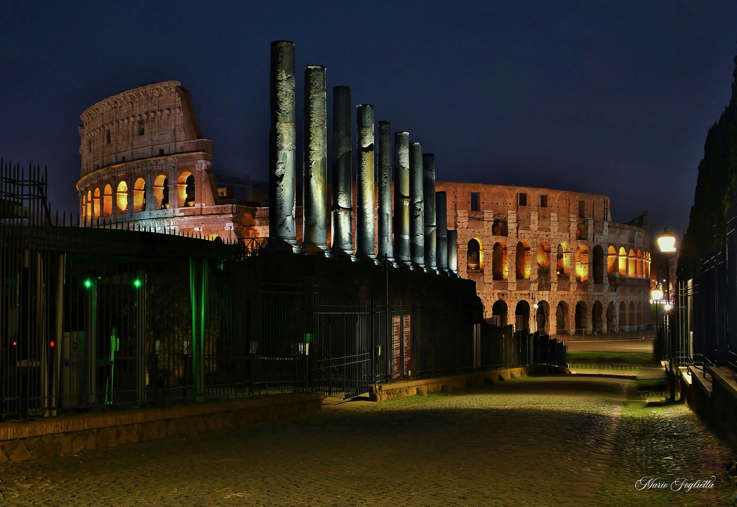 Sacred Way and Colosseum...