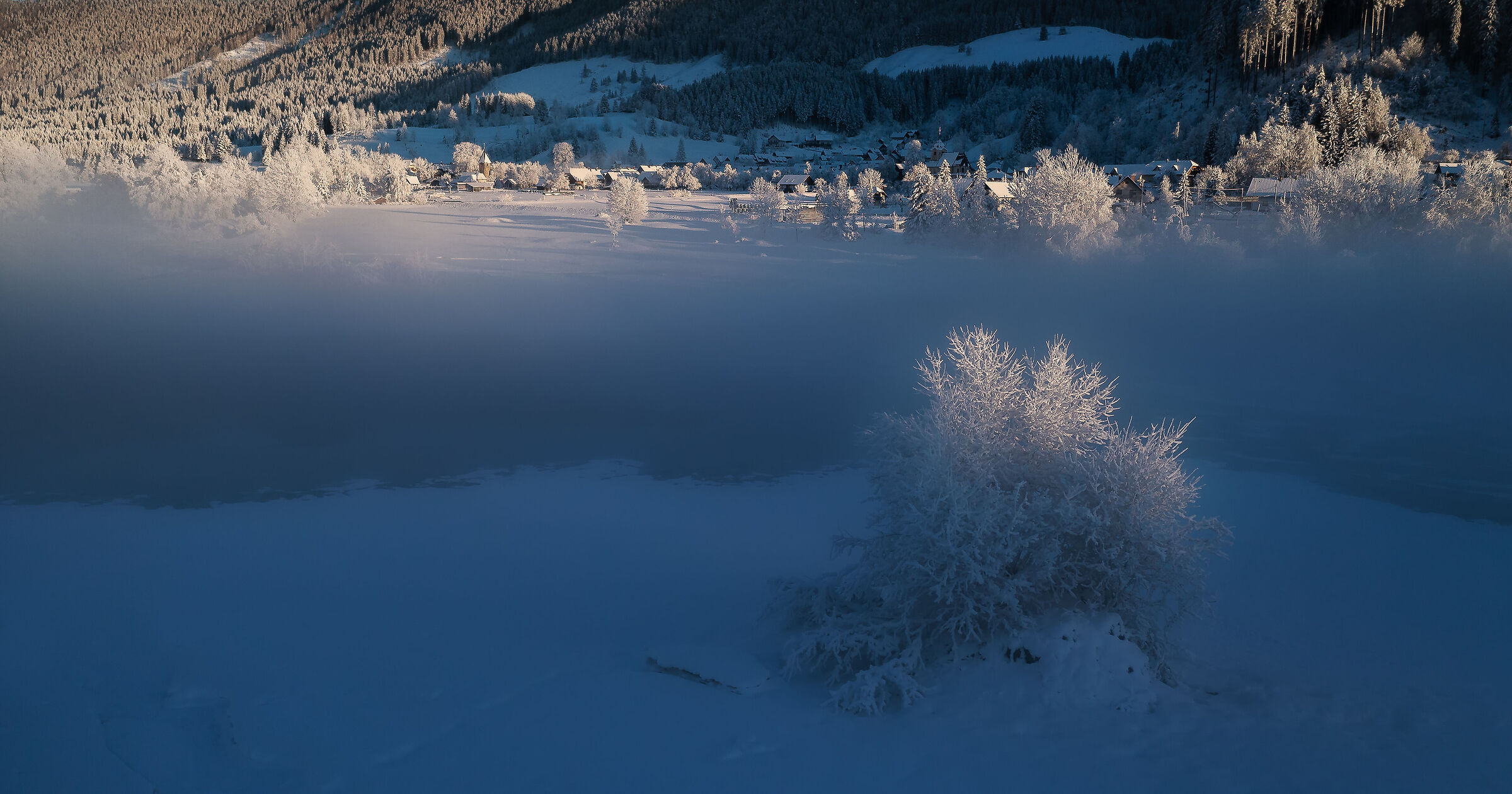 Winter morning in the village...