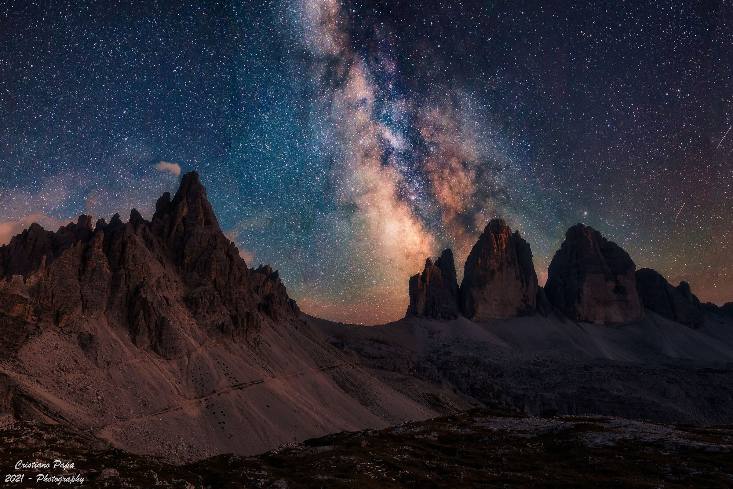 The 3 peaks and the Milky Way...