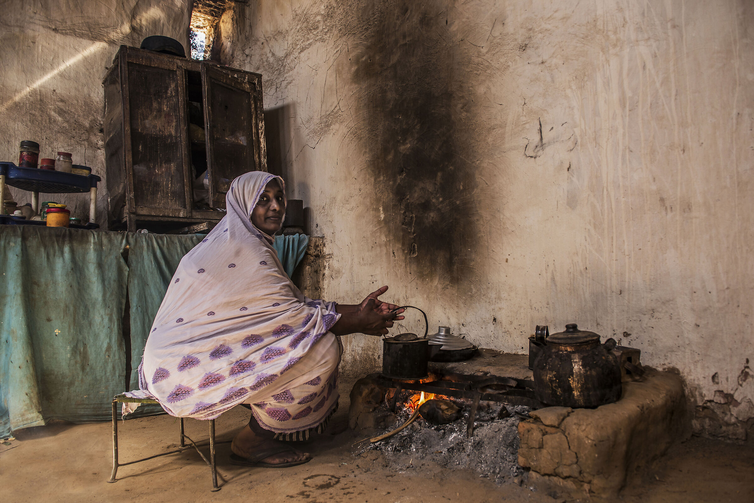 guests in a Nubian house...