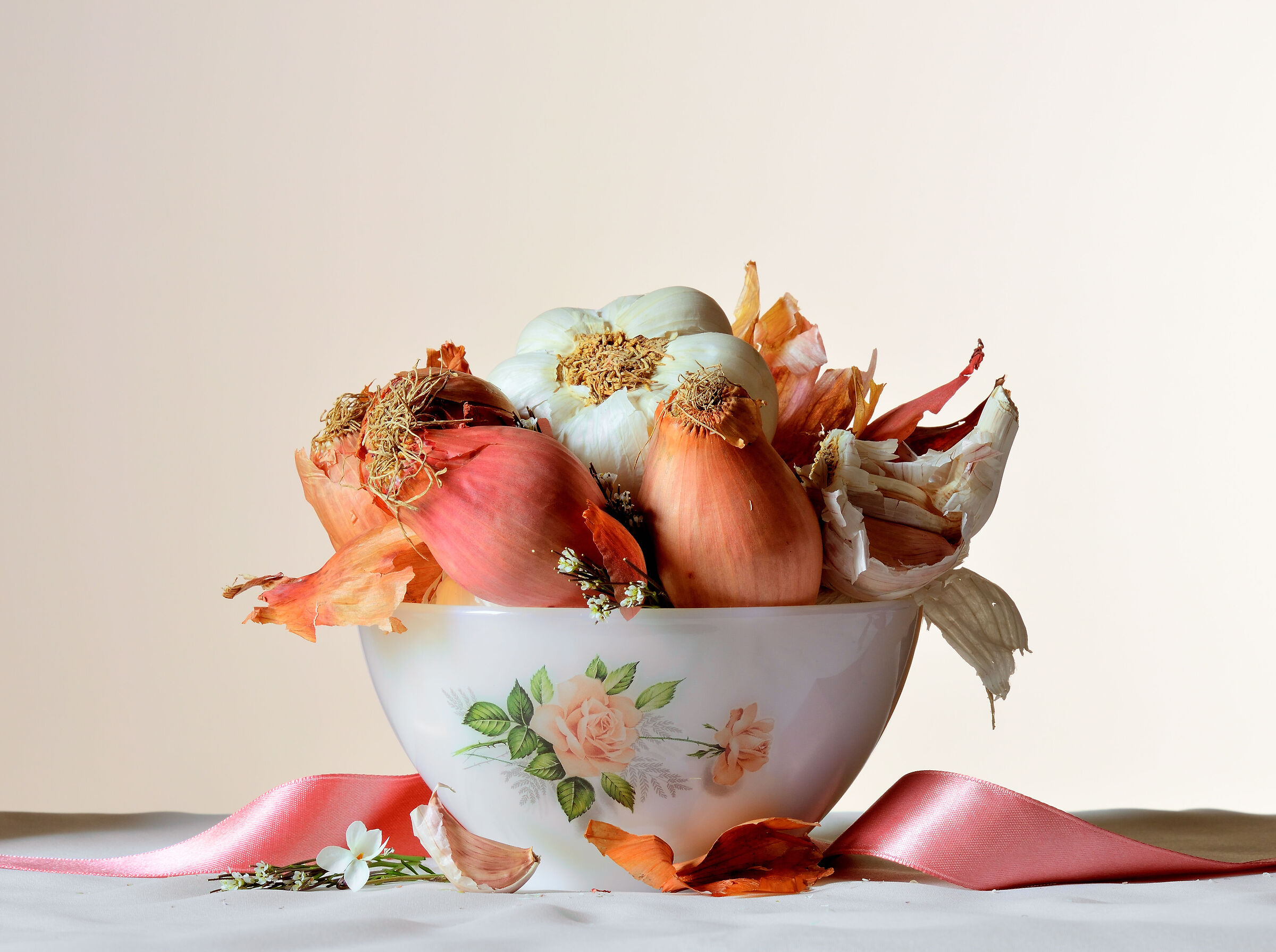 cup with garlic and shallot...