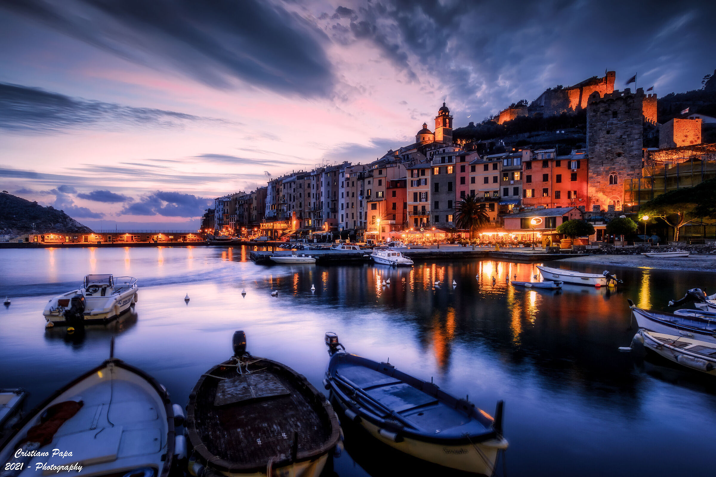 Cala in the evening on Portovenere...
