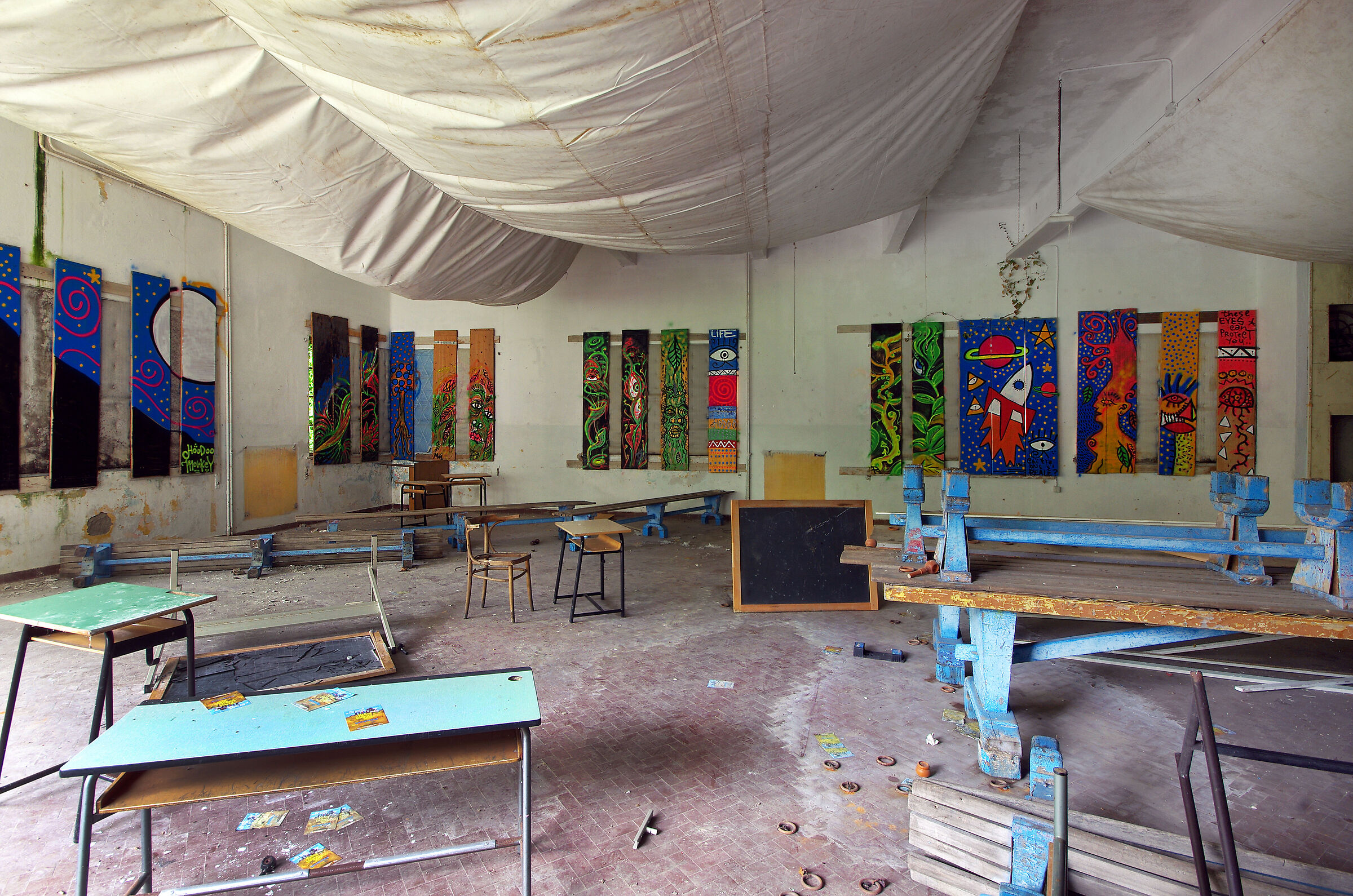 The artists' room...
