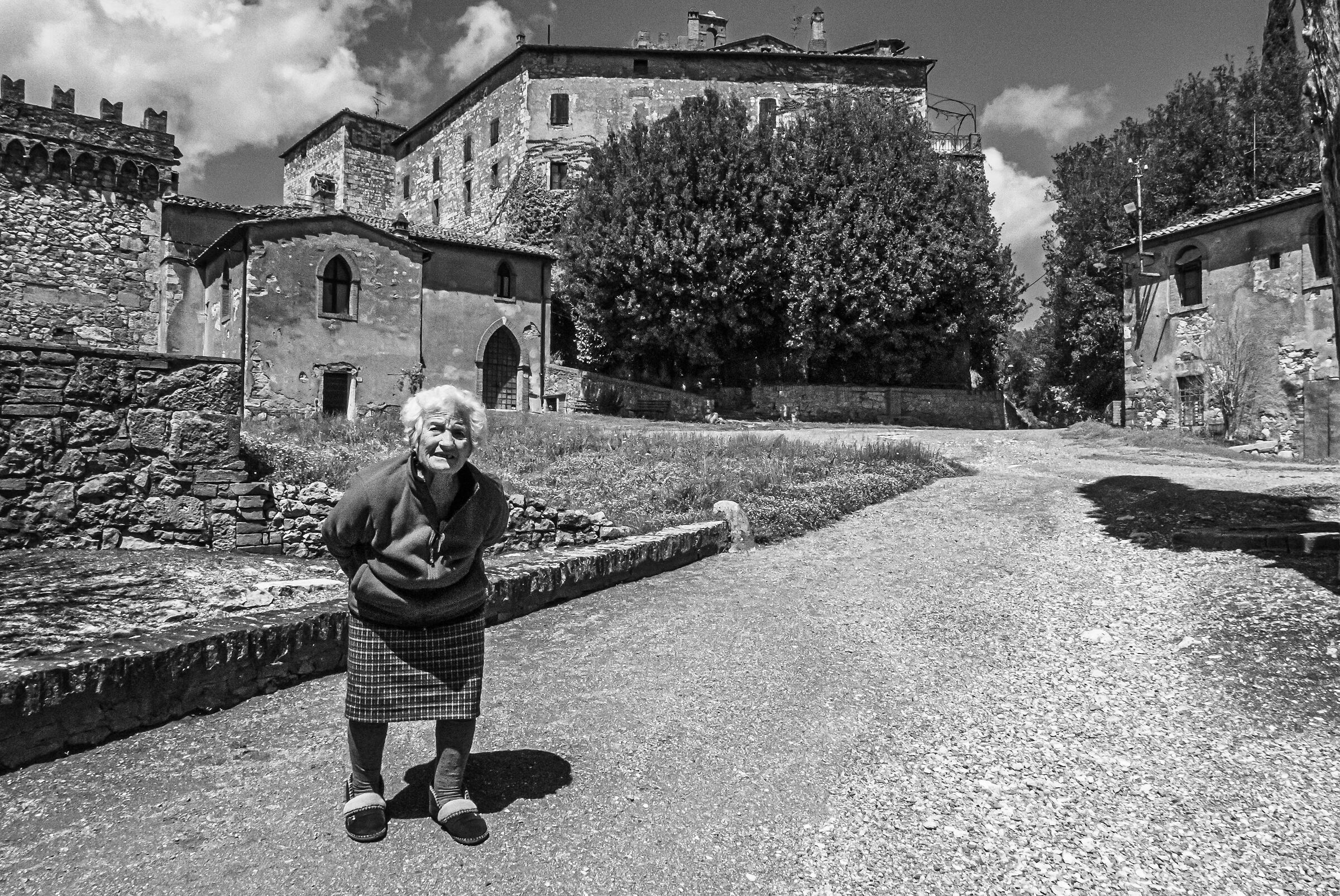 One of the two inhabitants of the Tuscan village...