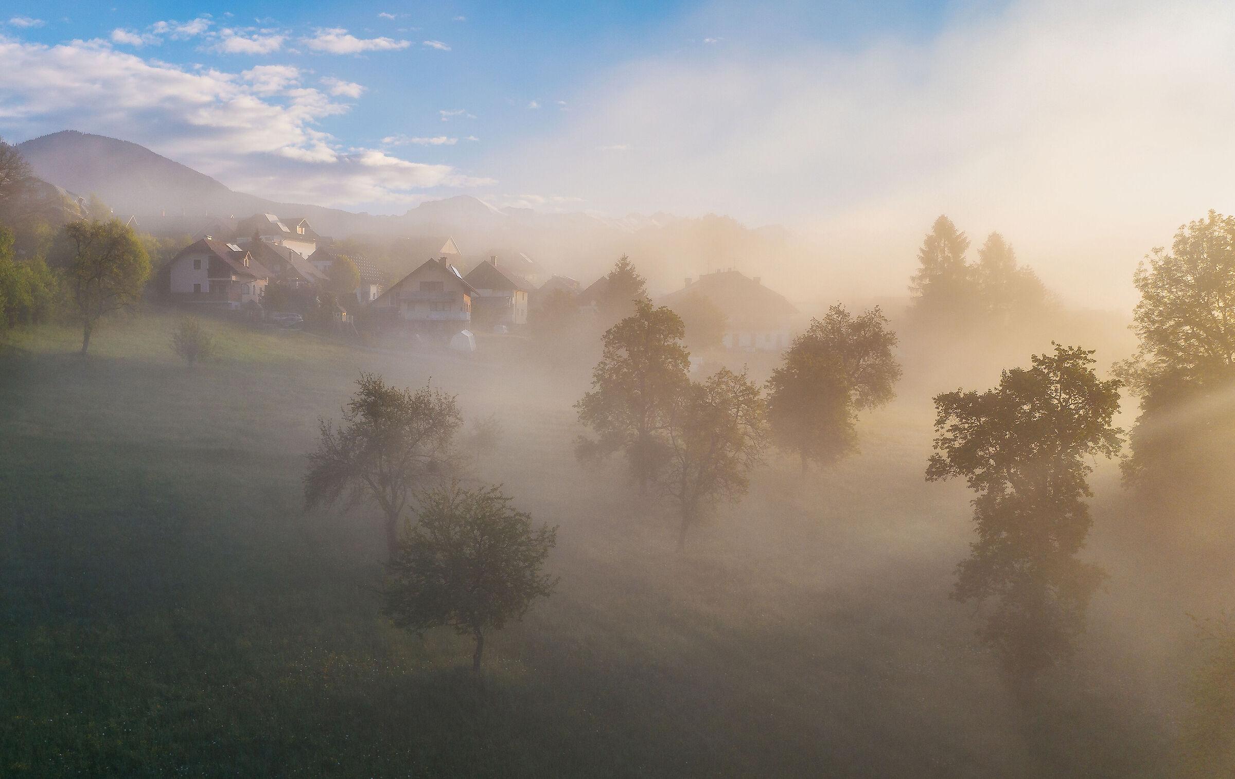 Morning light in the village...