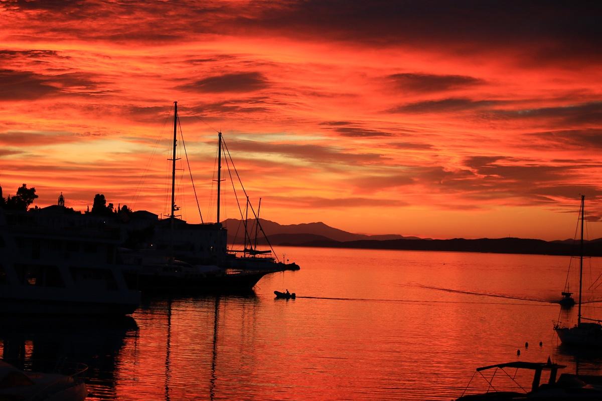 A BEAUTIFUL SUNSET ON SPETSES ISLAND IN THE SARONIC GULF...