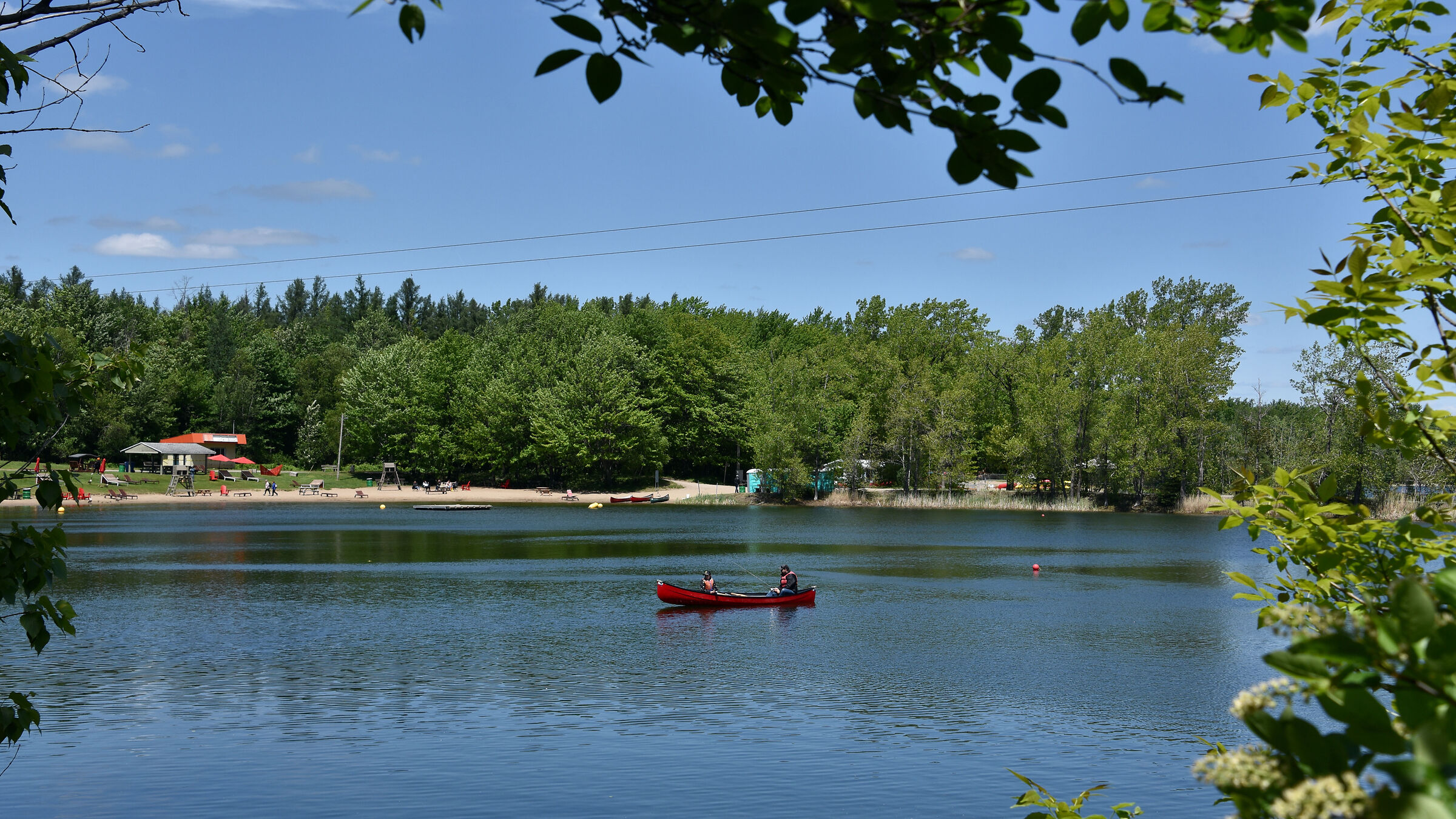 Do you like fishing on a trout lake?...
