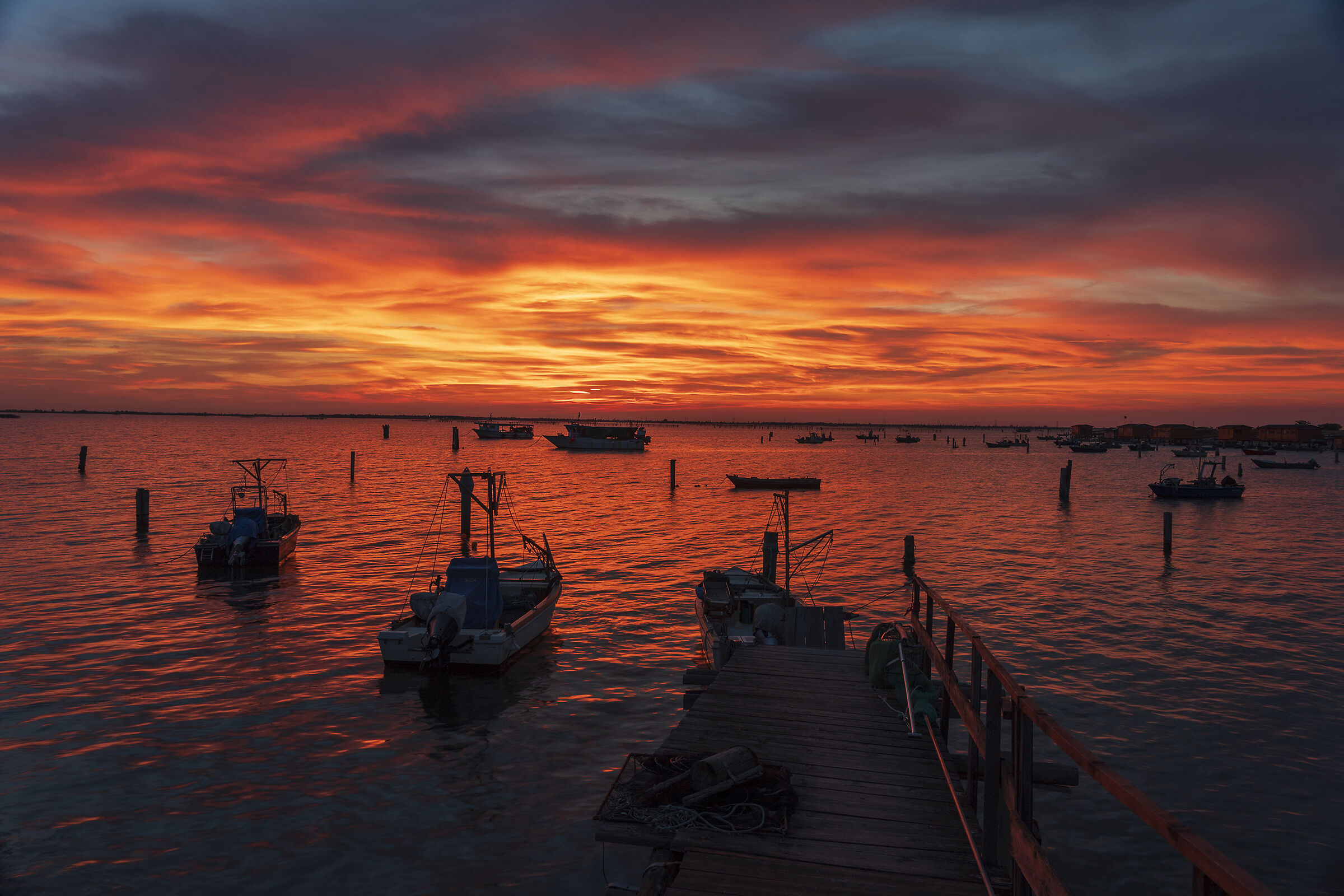 Sunset at Donzella Island...