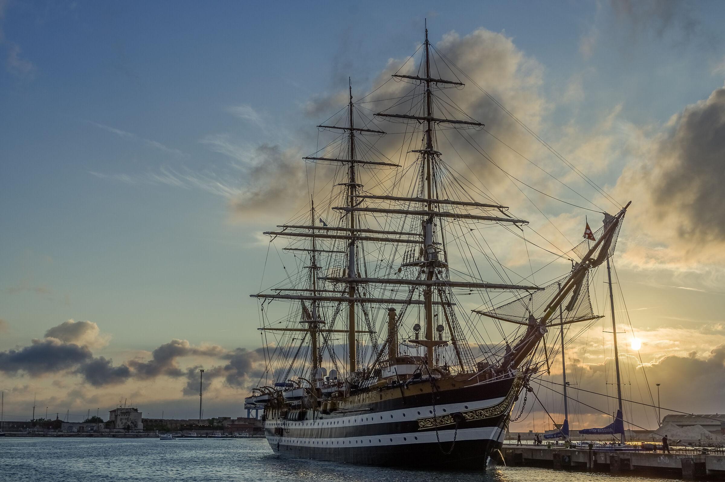 the ship Amerigo Vespucci ...