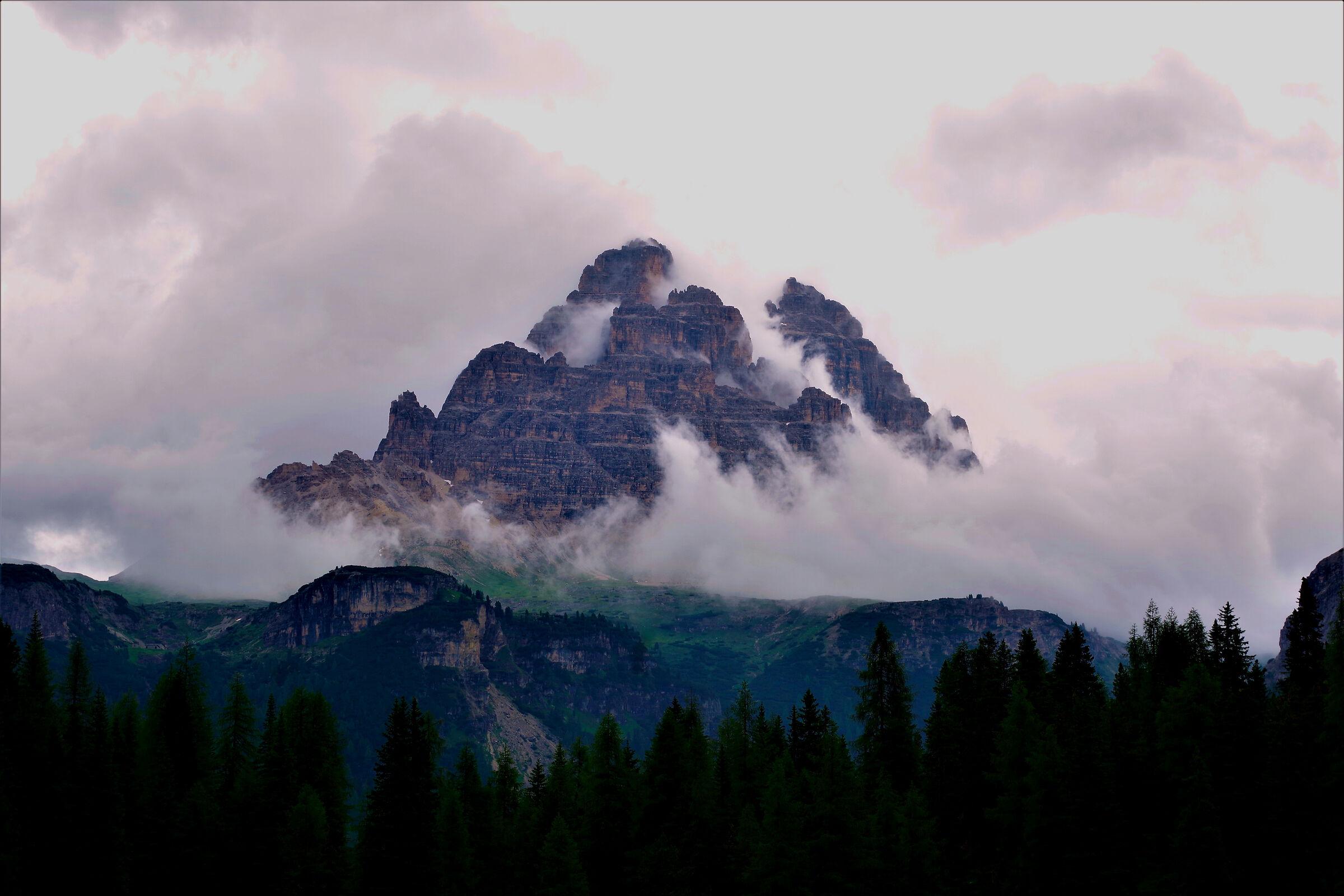 thunderstorm on the Tre Cime di Lavaredo...