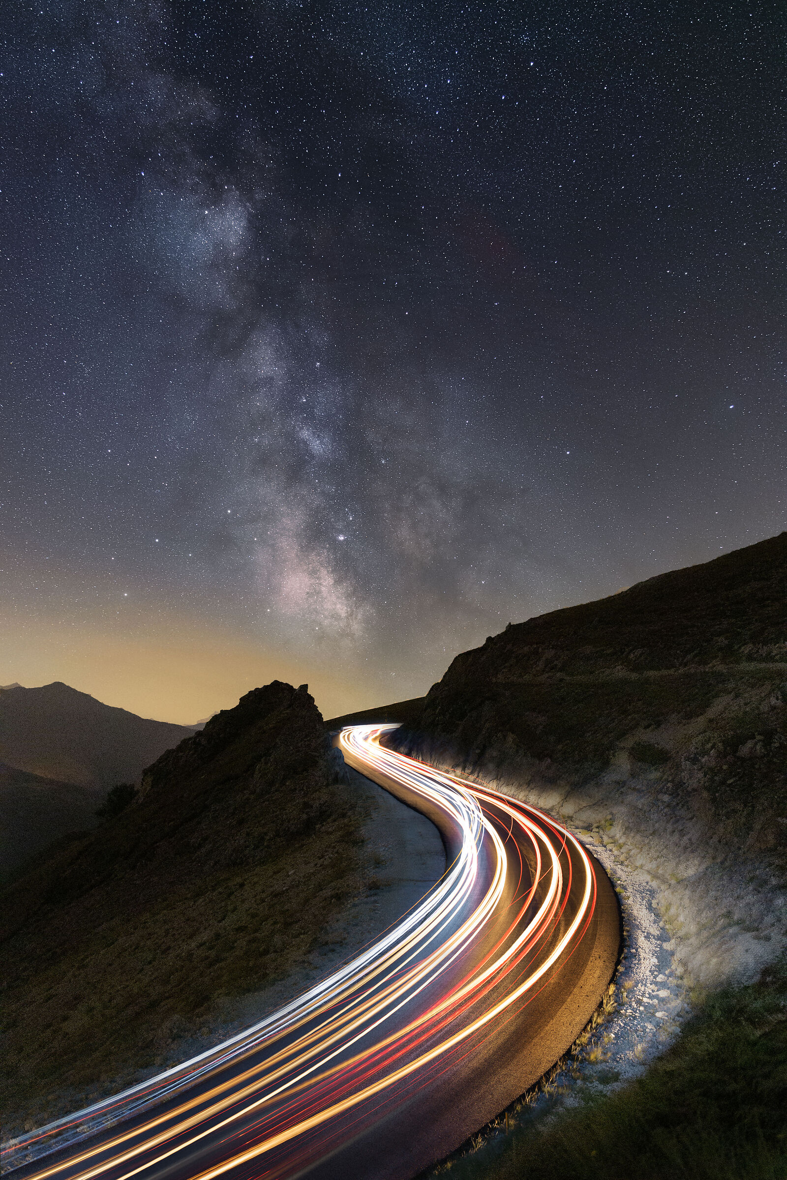 Traffic on the Sibillini Mountains...