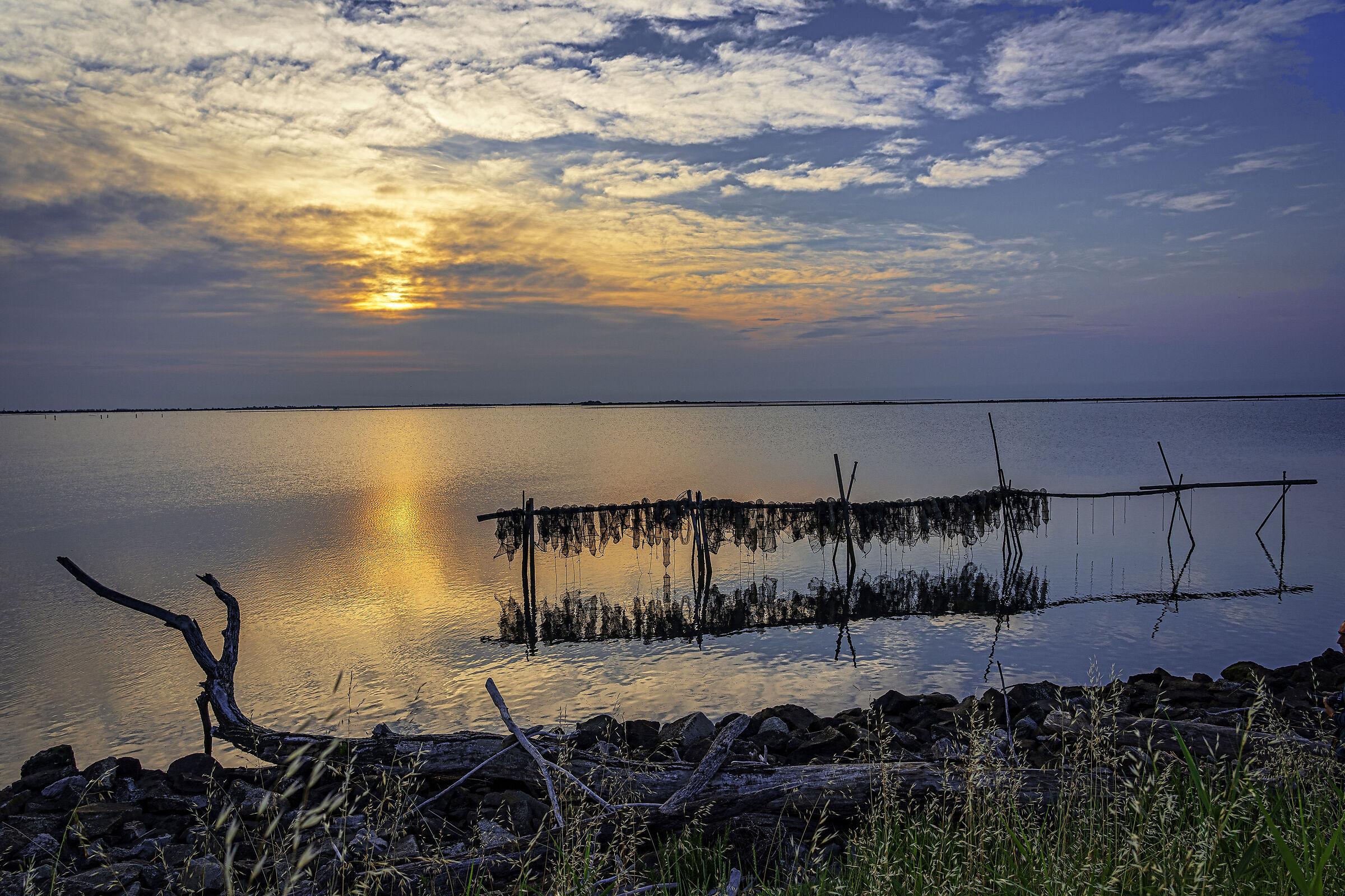 Sunrise over the Po Delta...