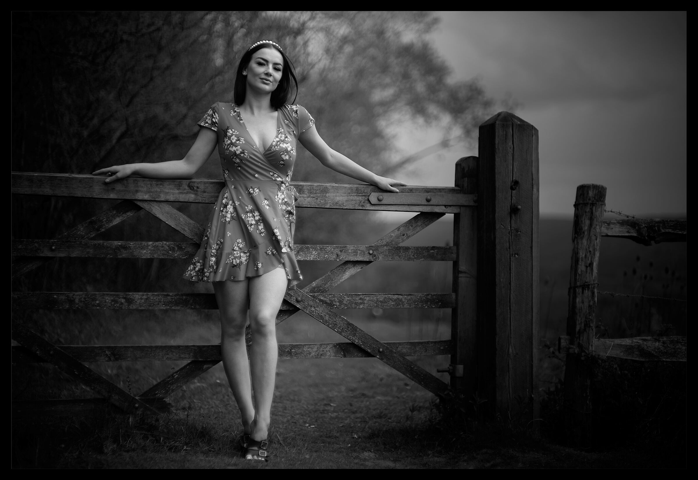 Girl and gate...
