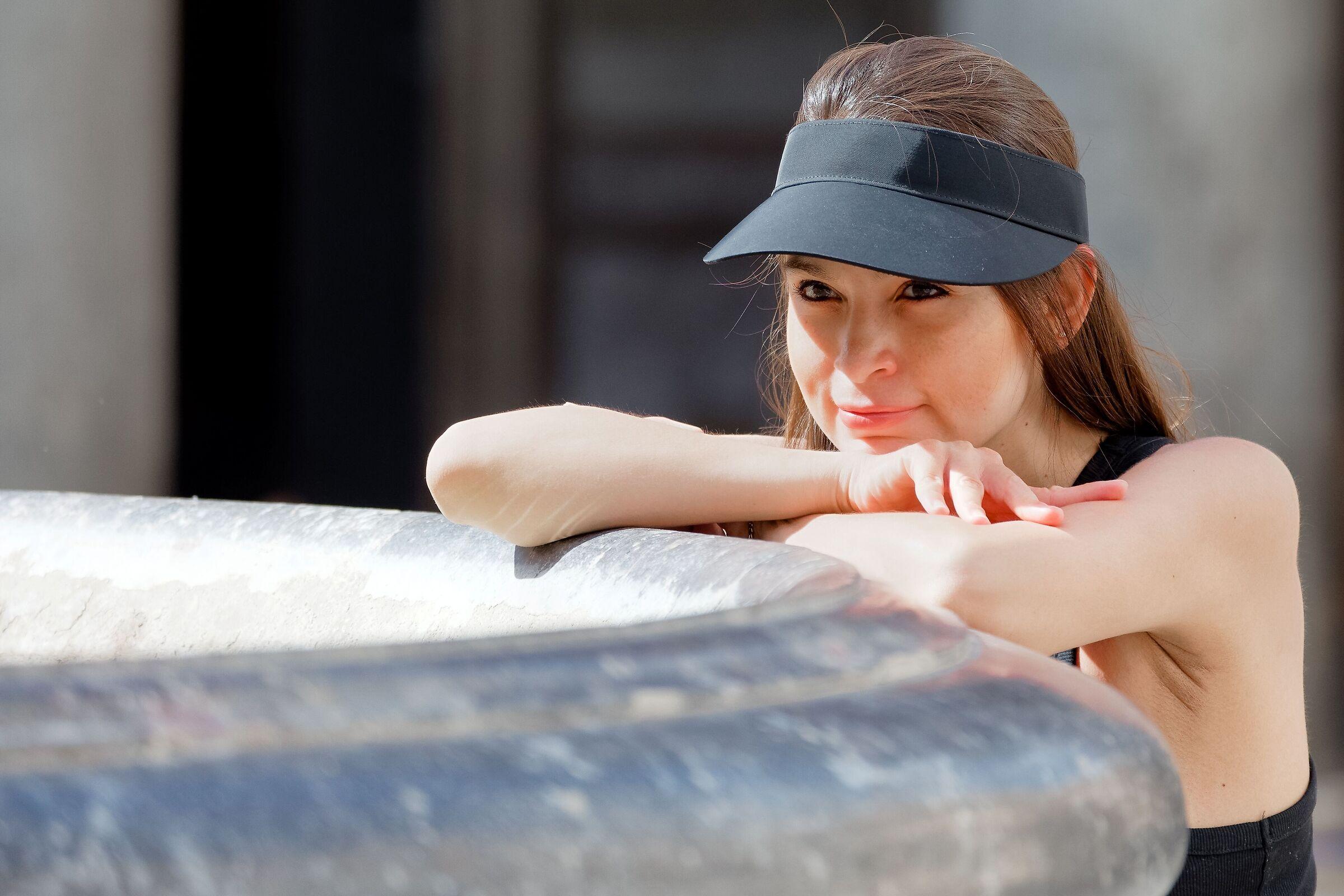 The visor...