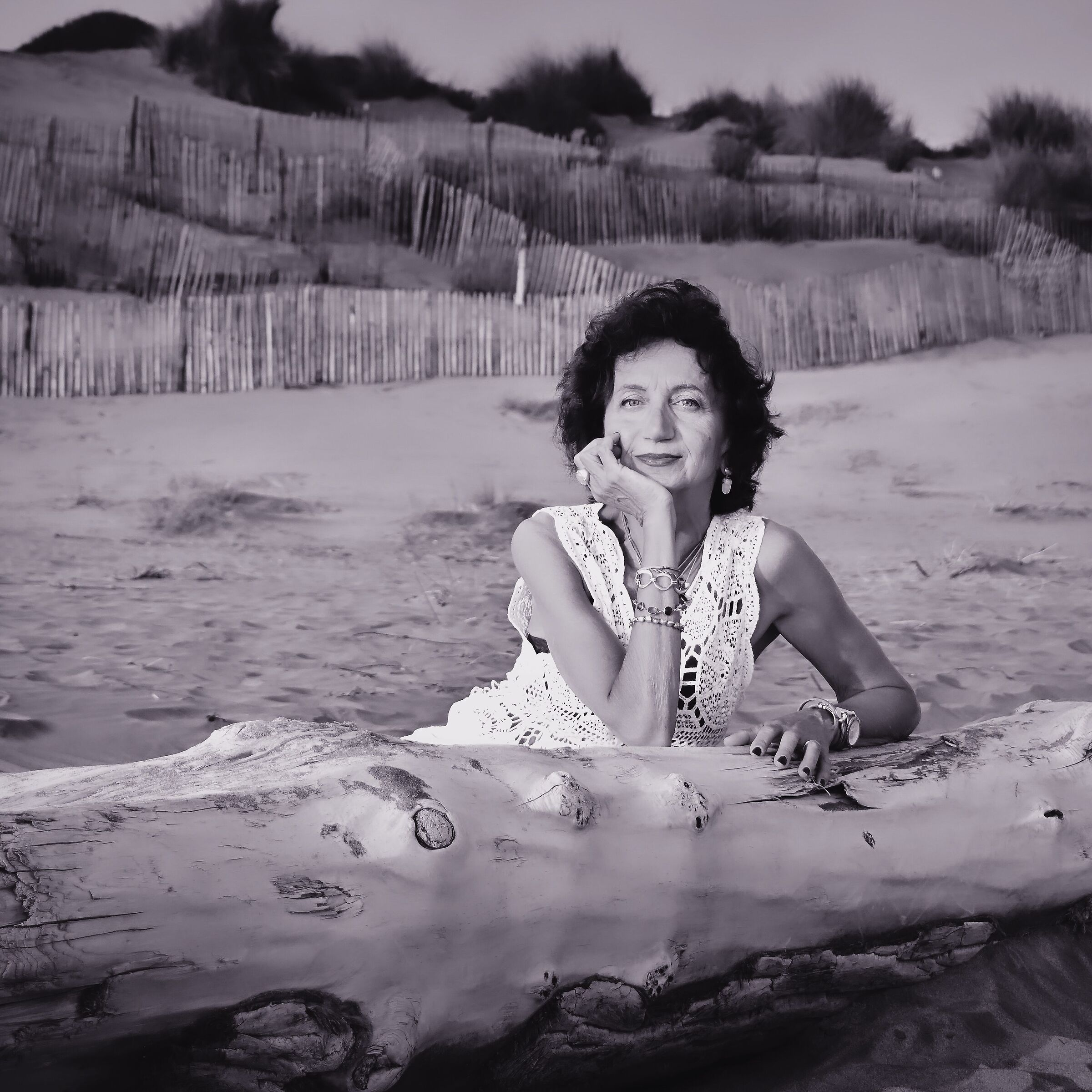 Rosse on the sand of the sea...
