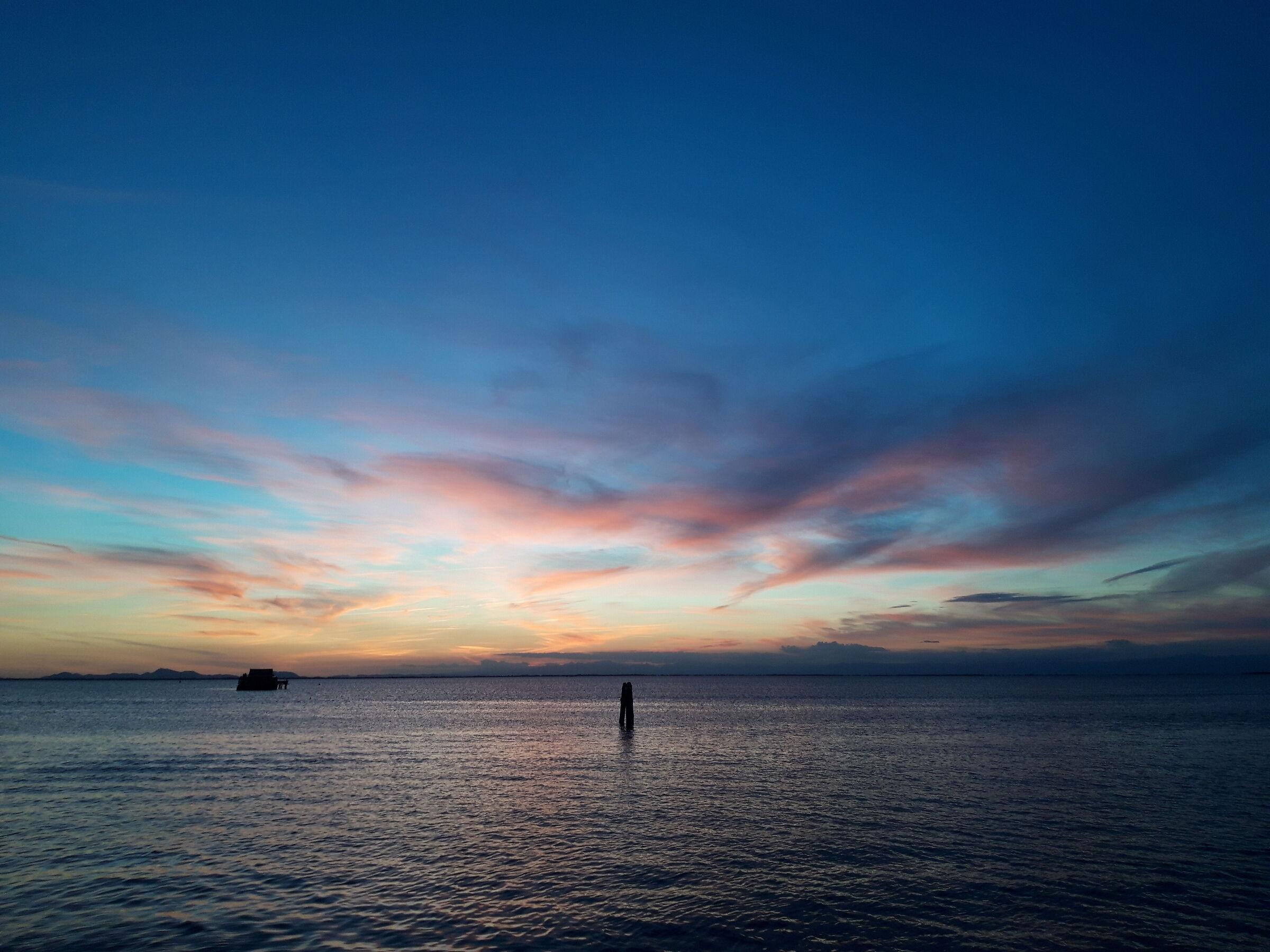 Blue sunset in Pellestrina...