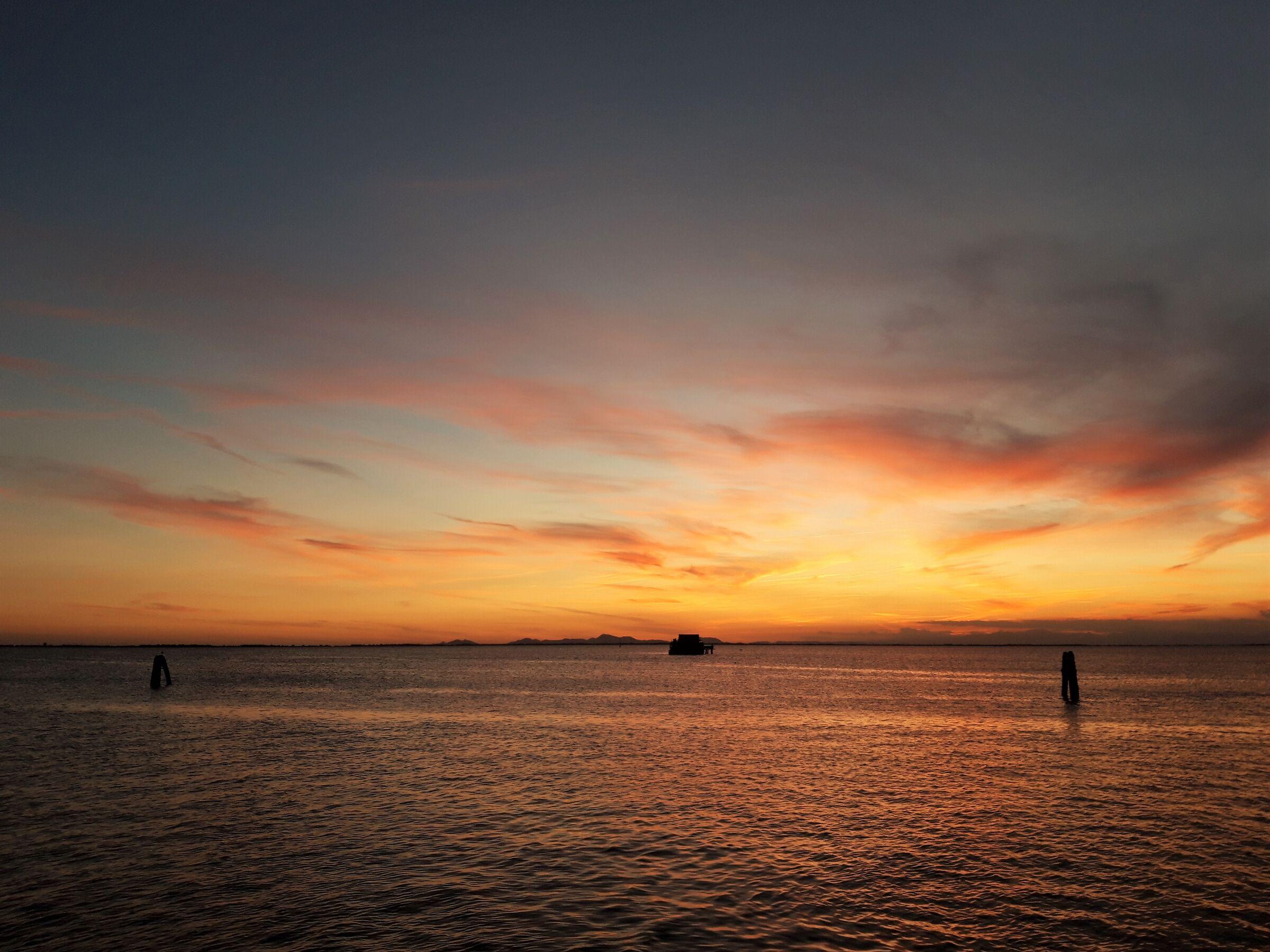 Red sunset in Pellestrina...