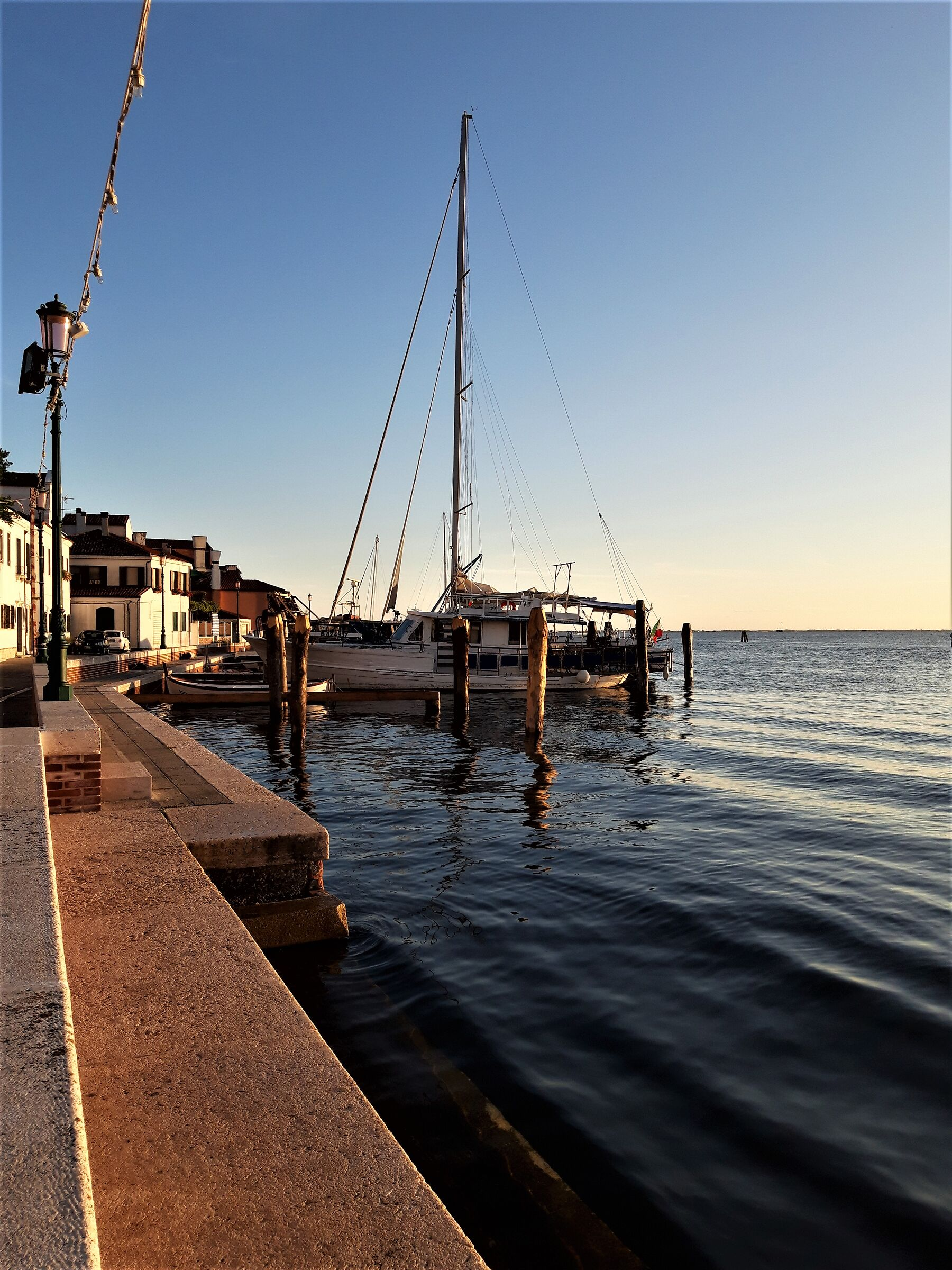 View of Pellestrina to the south...