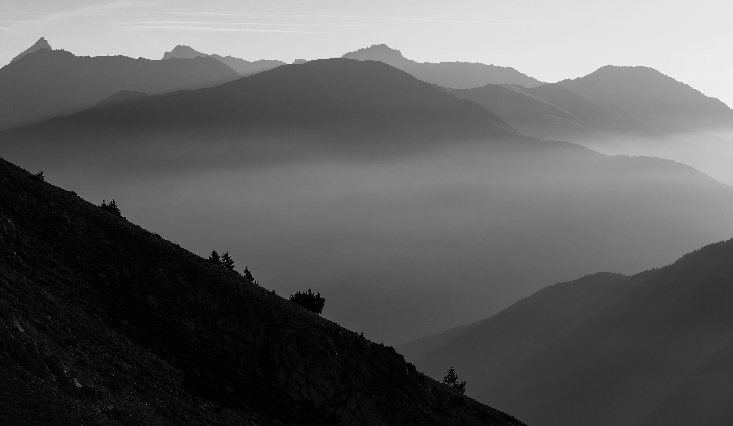 Misty mountain...