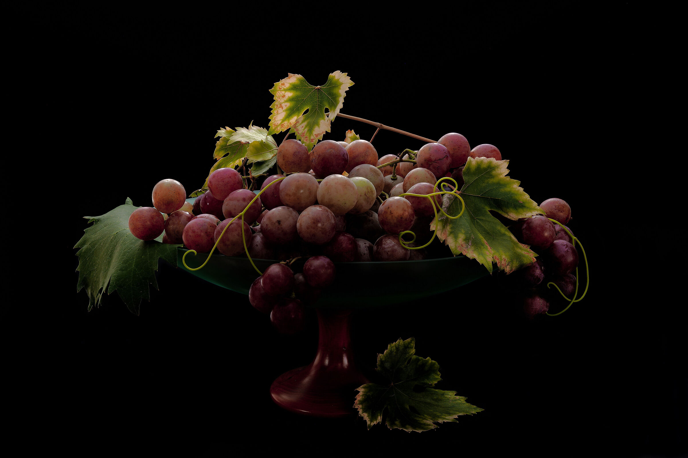 Cup with grapes....