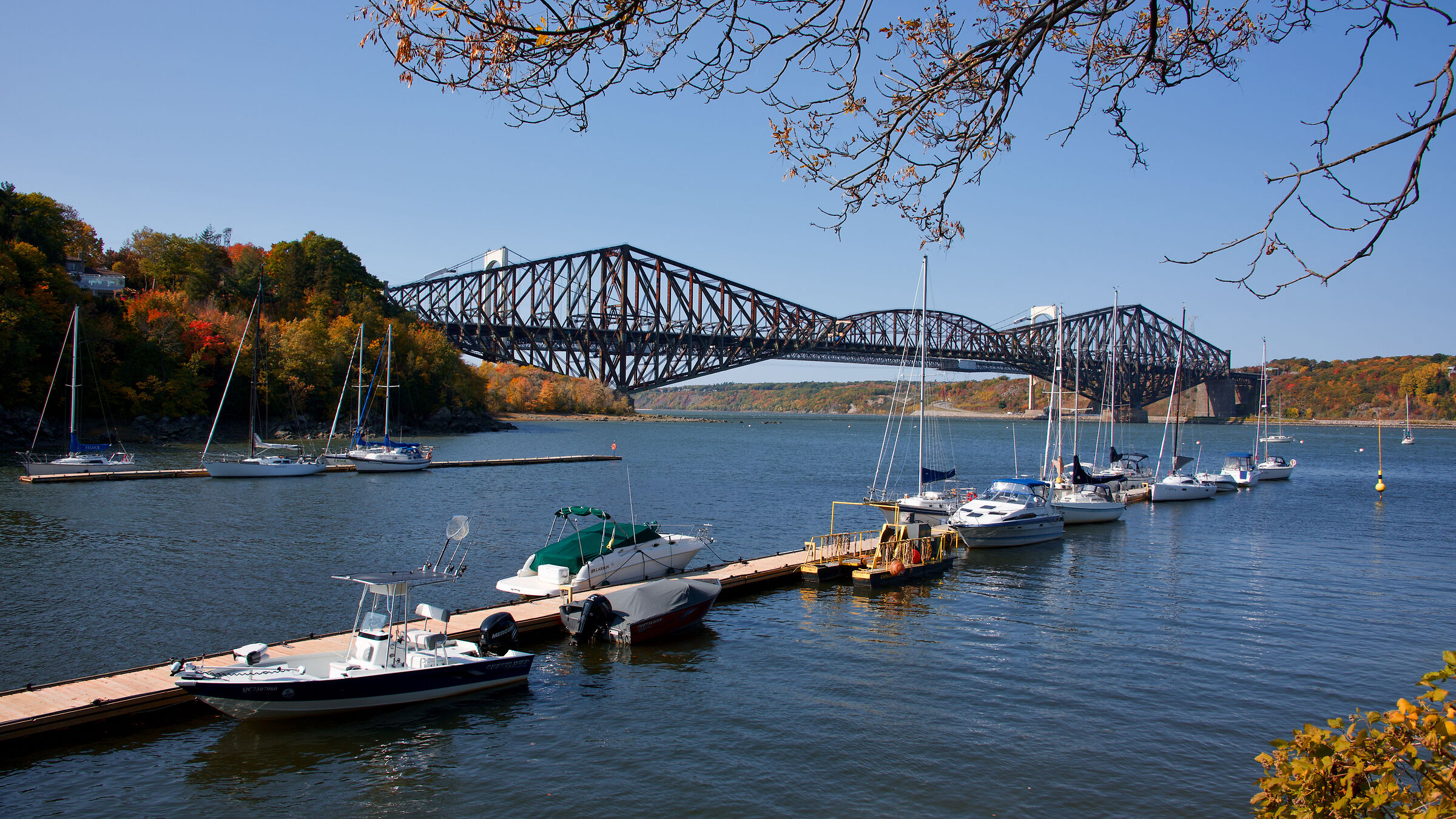 Marina du Parc Chaudière a Lévis South Shore del Québec...