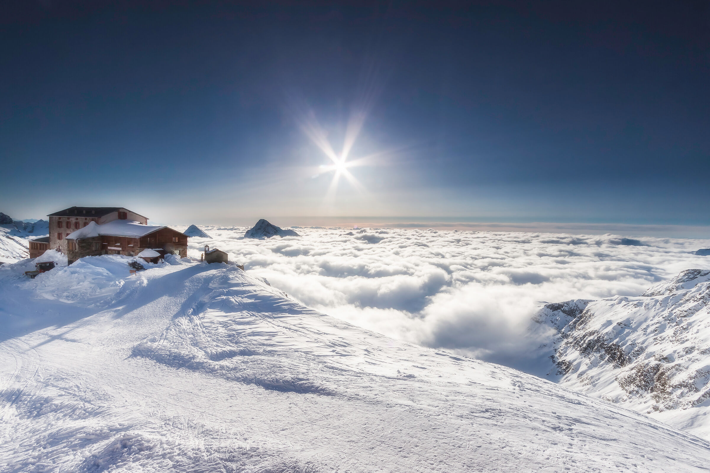 The sky above the clouds...