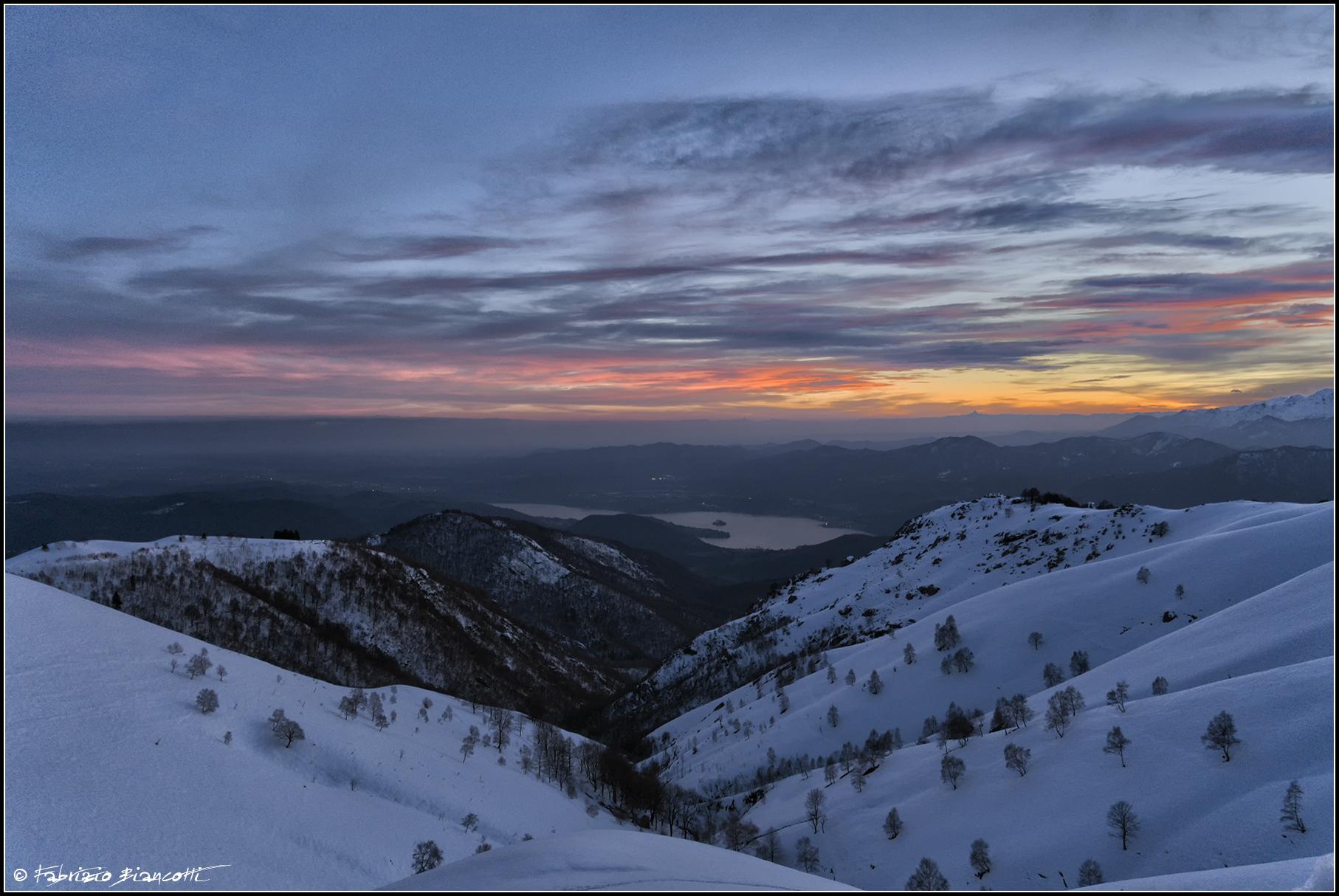 Il primo tramonto in montagna...