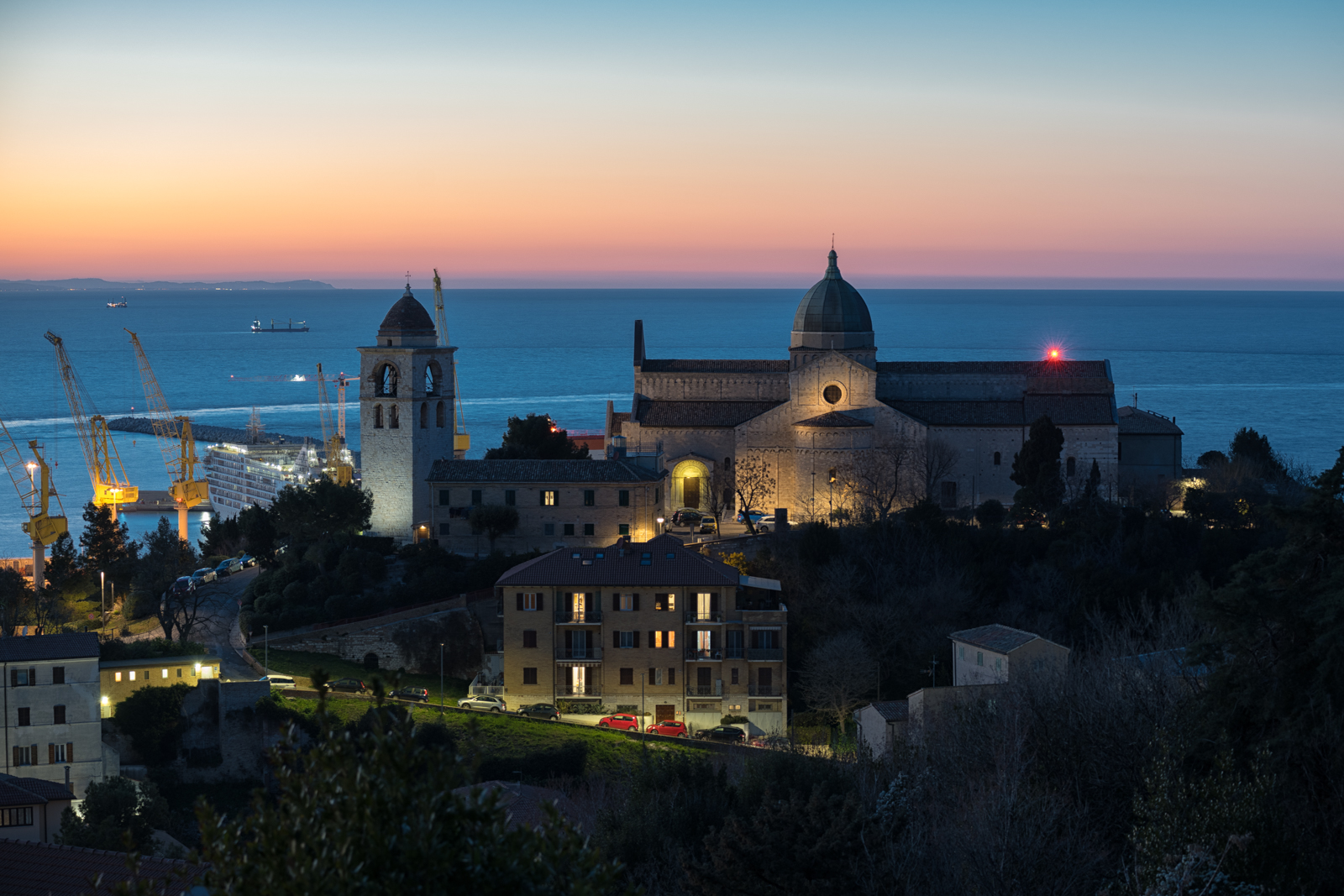 Sunset over Ancona Cathedral...