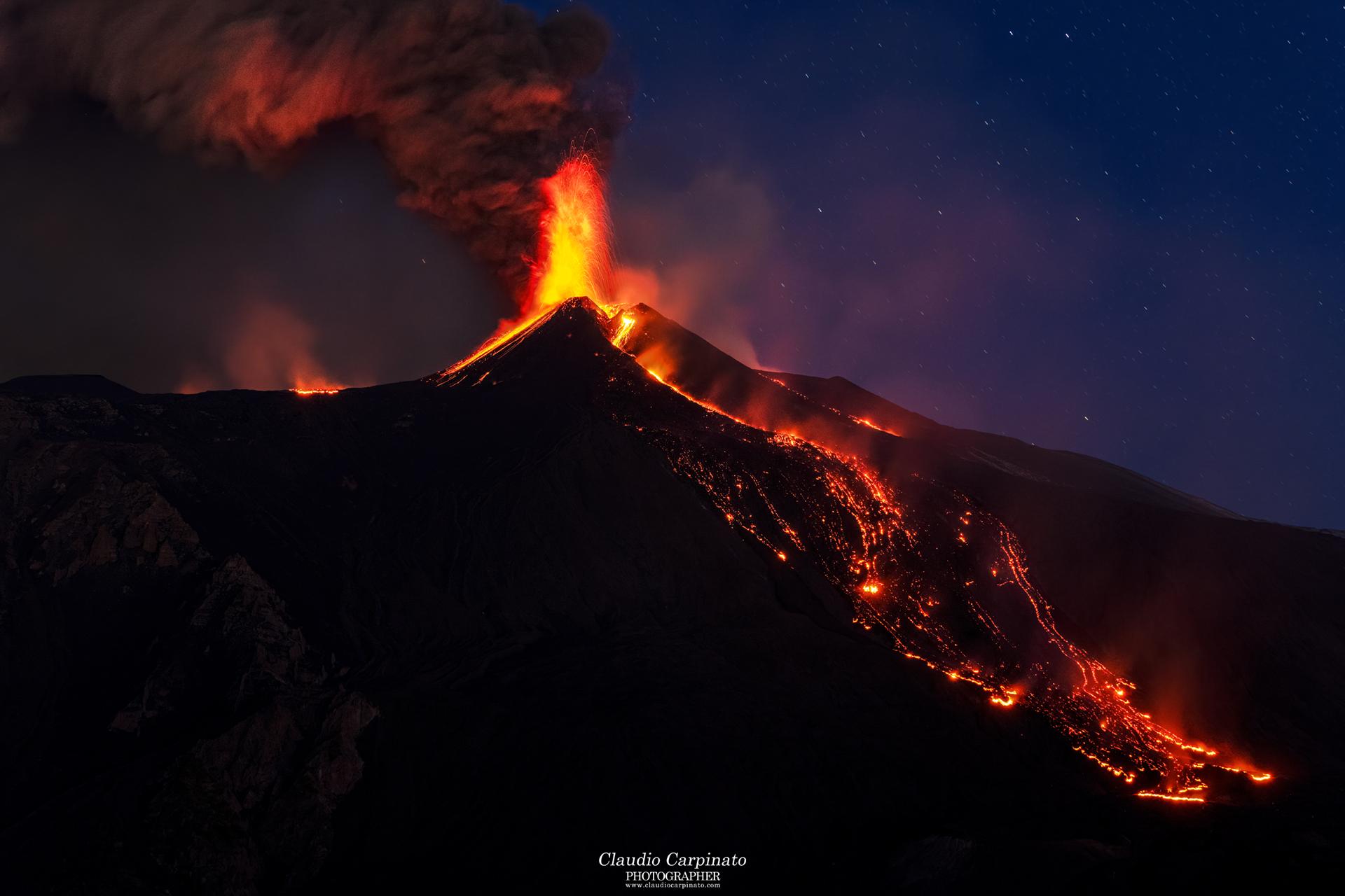 Etna, parossismo del 23.02.2021 - parte 3...