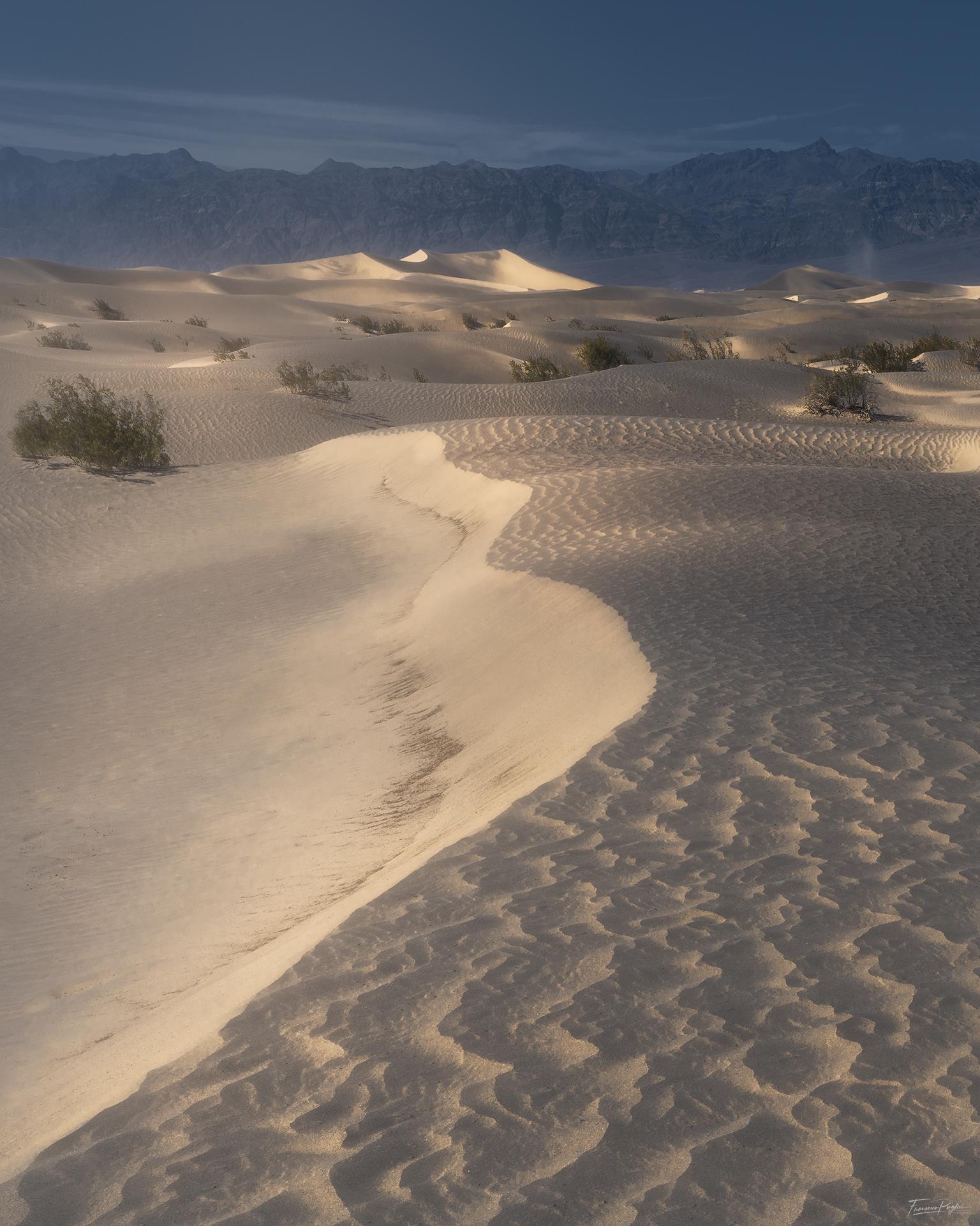 Death Valley, California - Mesquite Flat sand dunes...