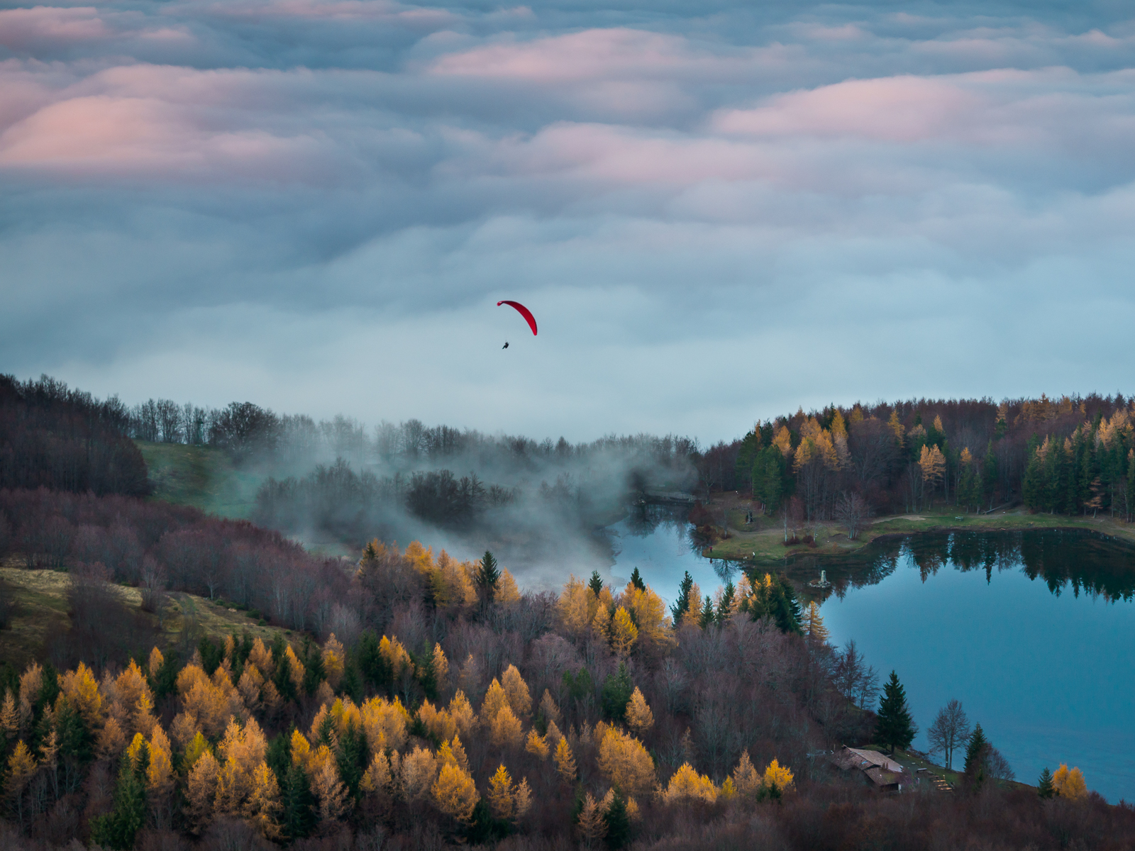 A flight in the fall...