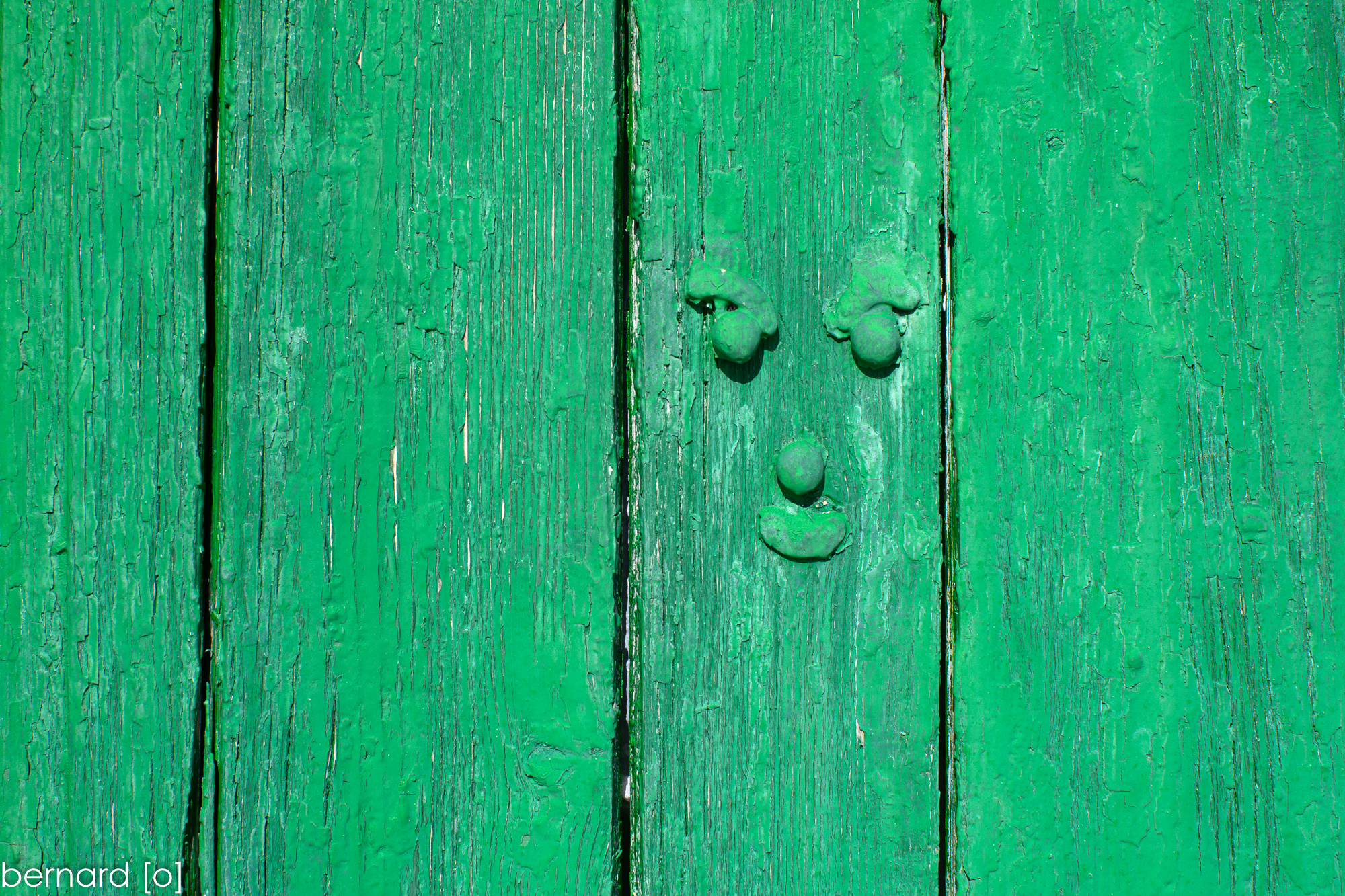 Wooden face...