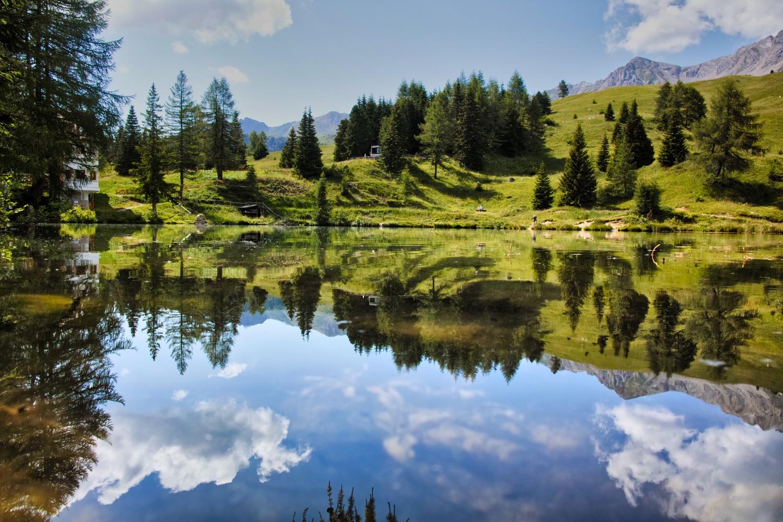 Lake at Passo San Pellegrino...