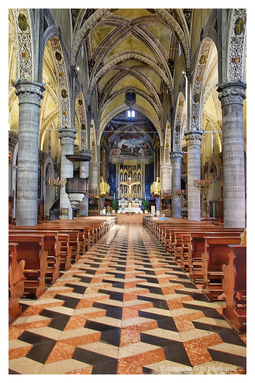 Interior of the Cathedral of Salò ...